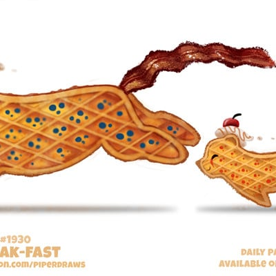 Piper thibodeau daily paint 1930 break fast by cryptid creations dc4xe53