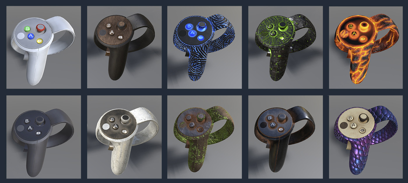 Full set of Oculus Touch controllers
