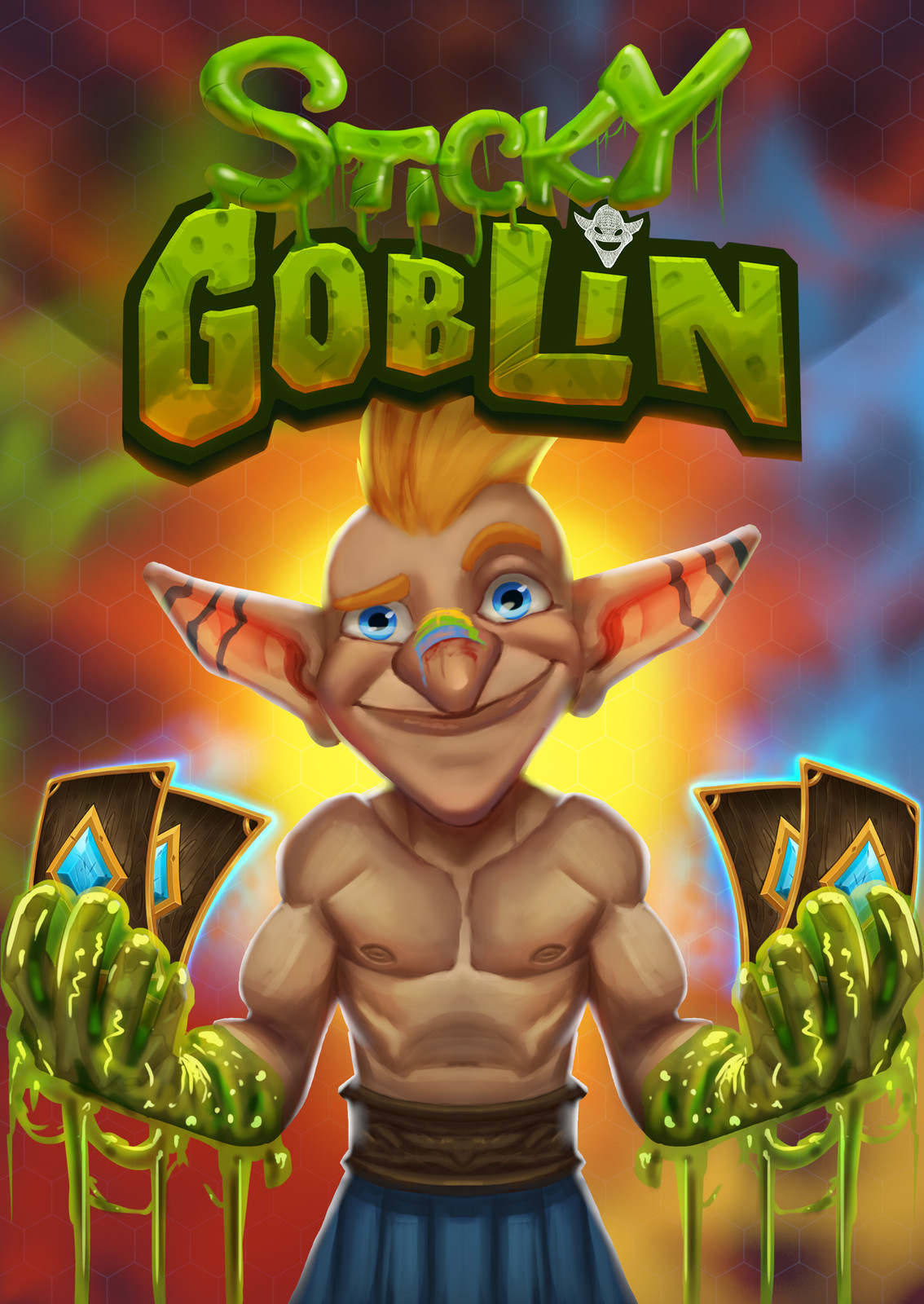 Sticky Goblin logo and art of front of box