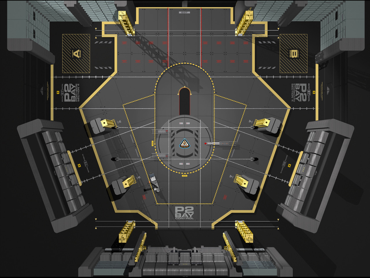 3D Hangar Plan Art for ScyFy's Eureka Season 5.