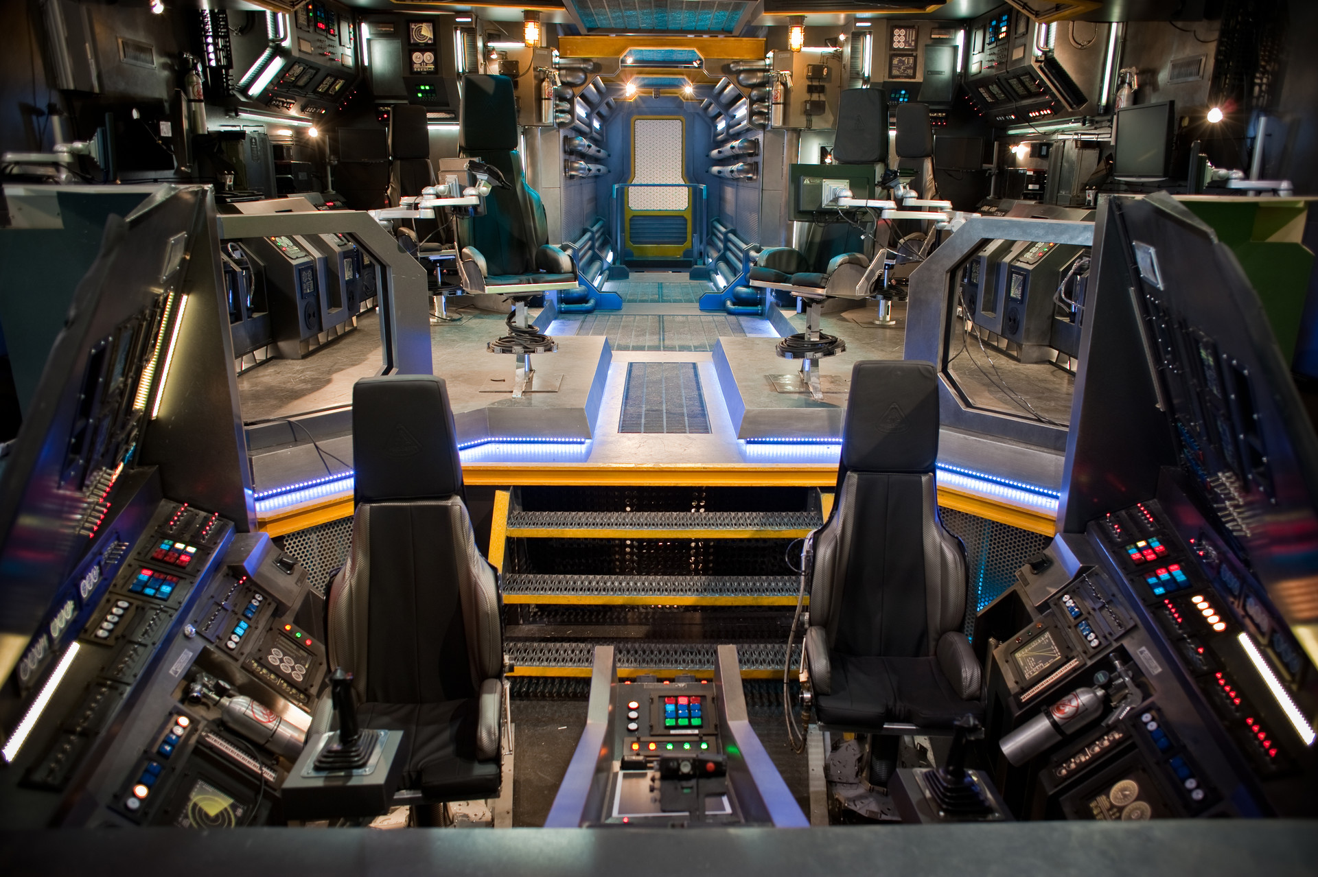 Ship's Interior / Final Build Set Photo for ScyFy's Eureka Season 5.