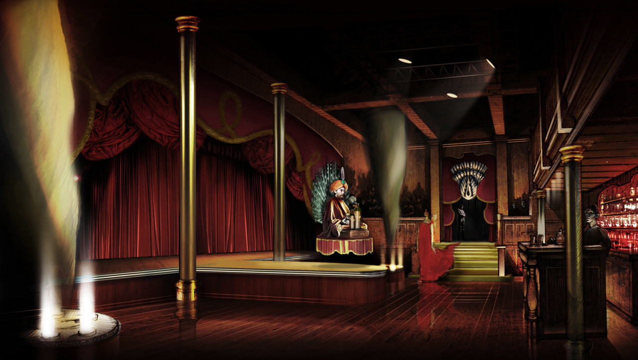 Concept Art for the Wizard's Chamber on the Tinman Miniseries
