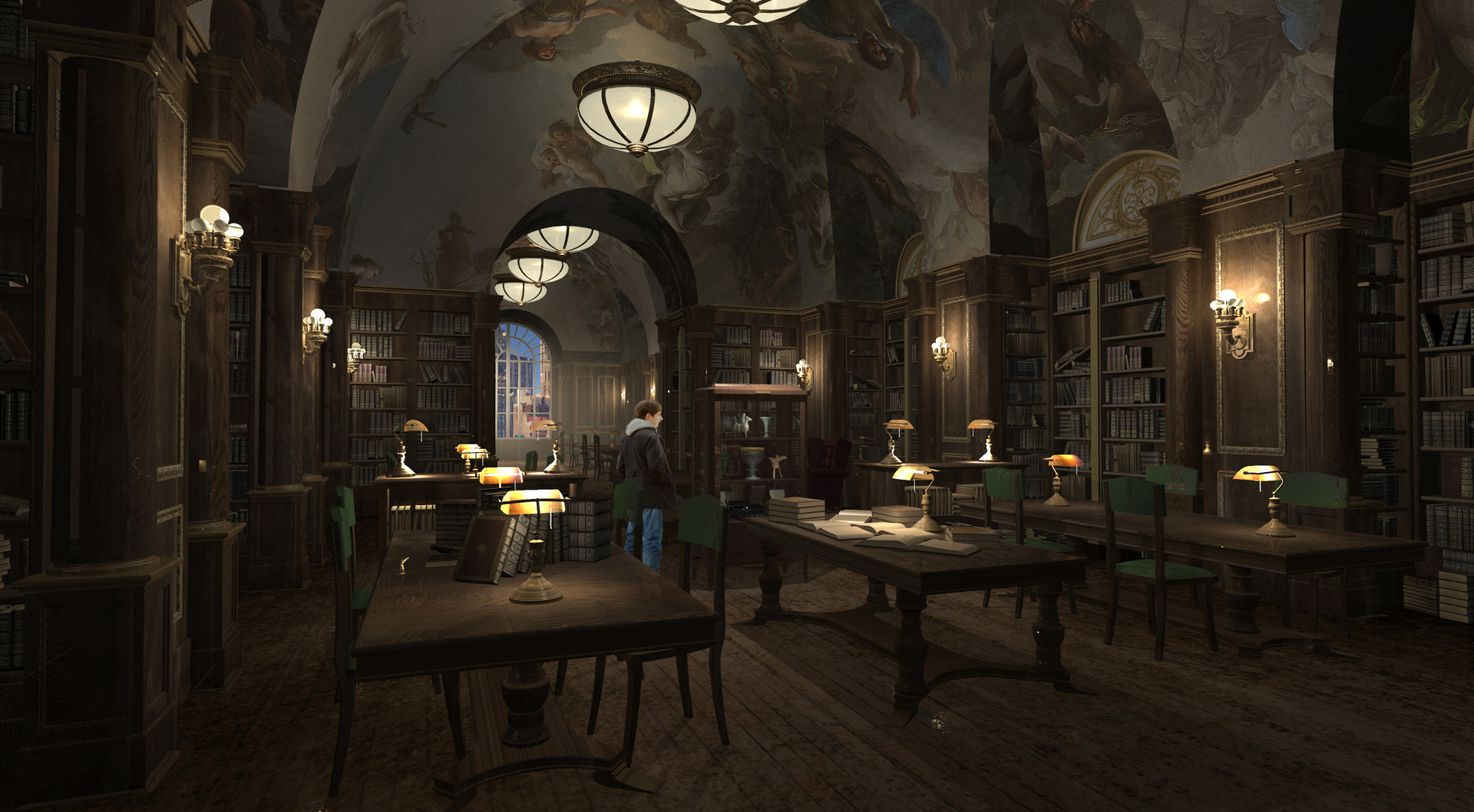 2D / 3D Interior New York Library for Once Upon a Time Season 6