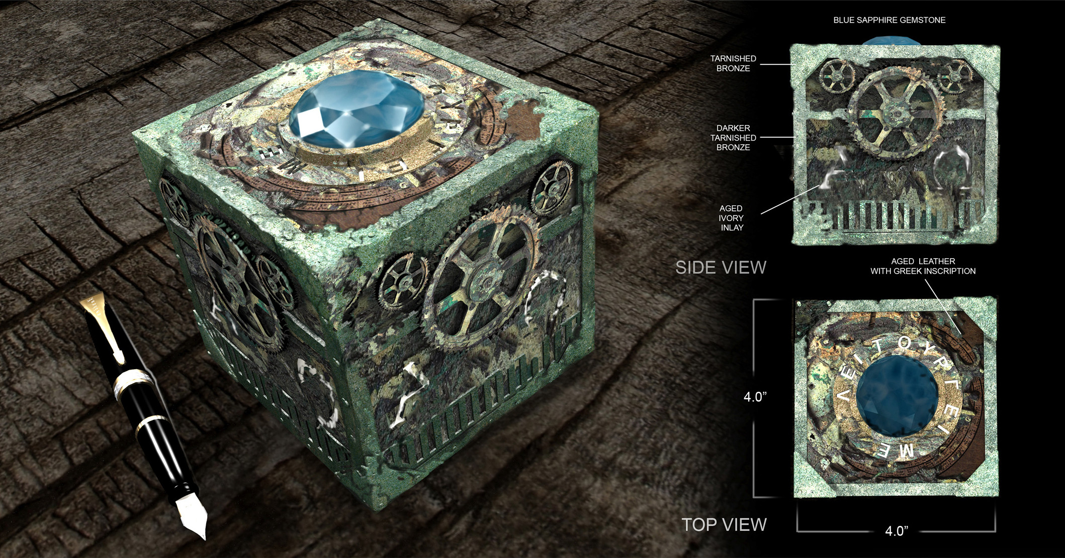 Ancient Device Concept / 3D Printing Project for  ABC's Once Upon a Time Season 4