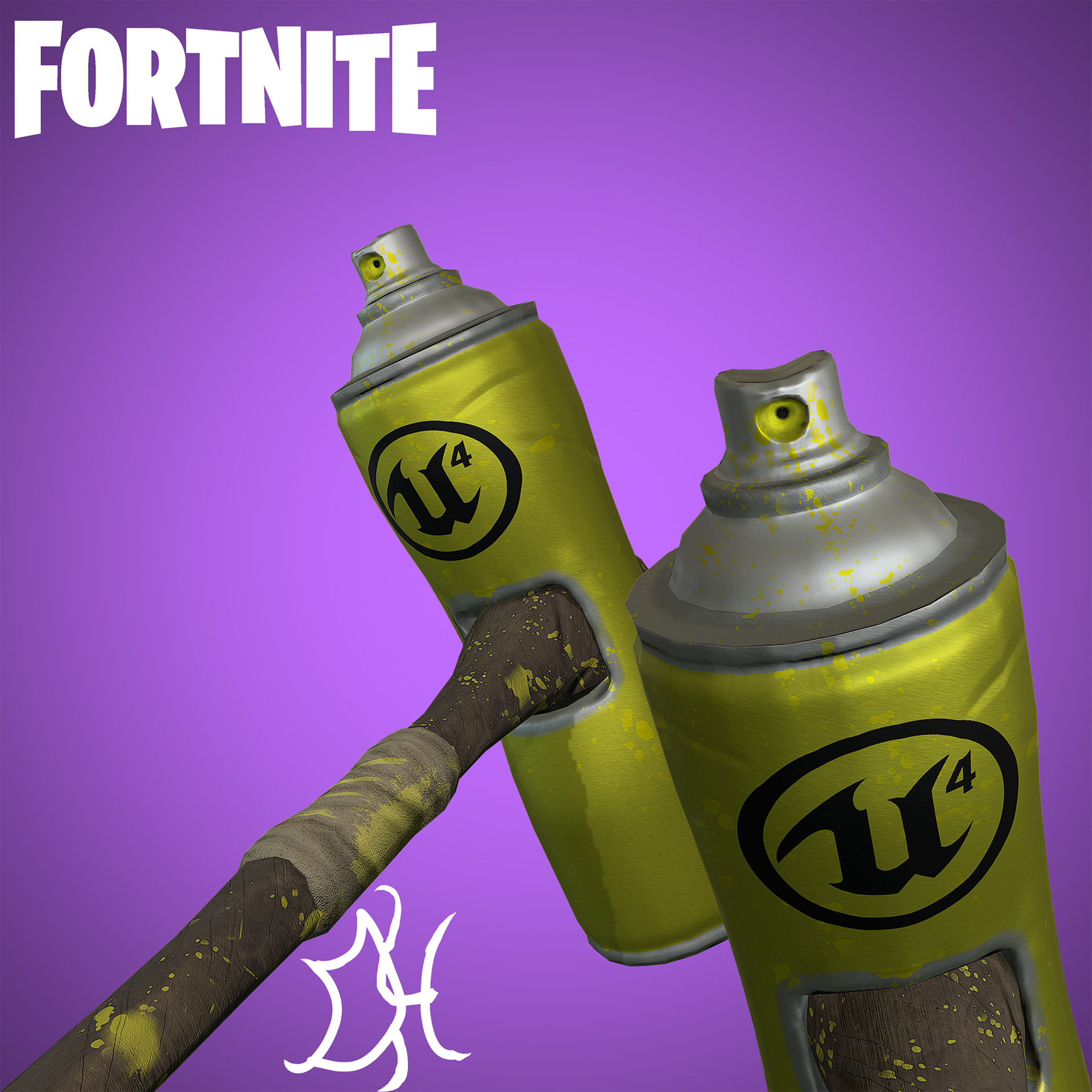 close up - fortnite new spray paint