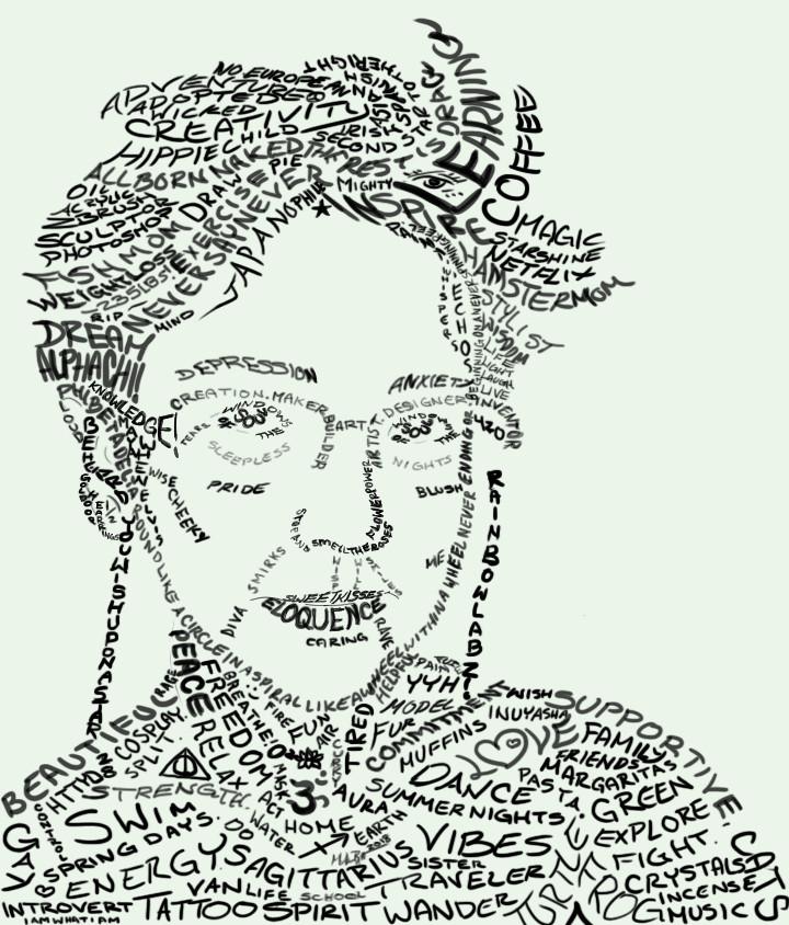 Word Art Self Portrait