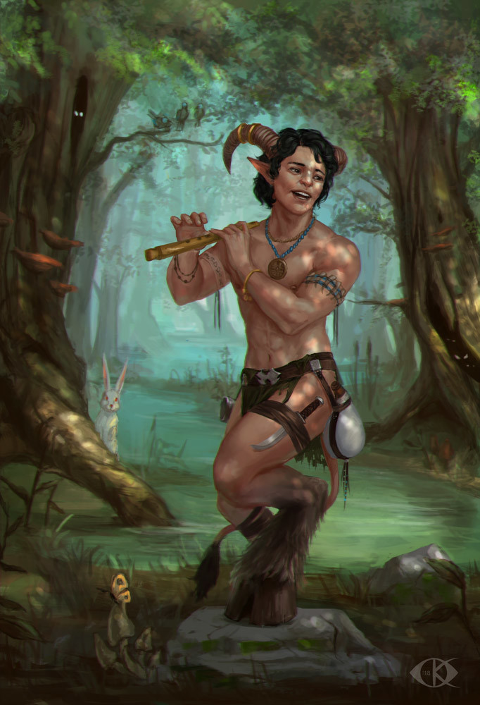 The young satyr