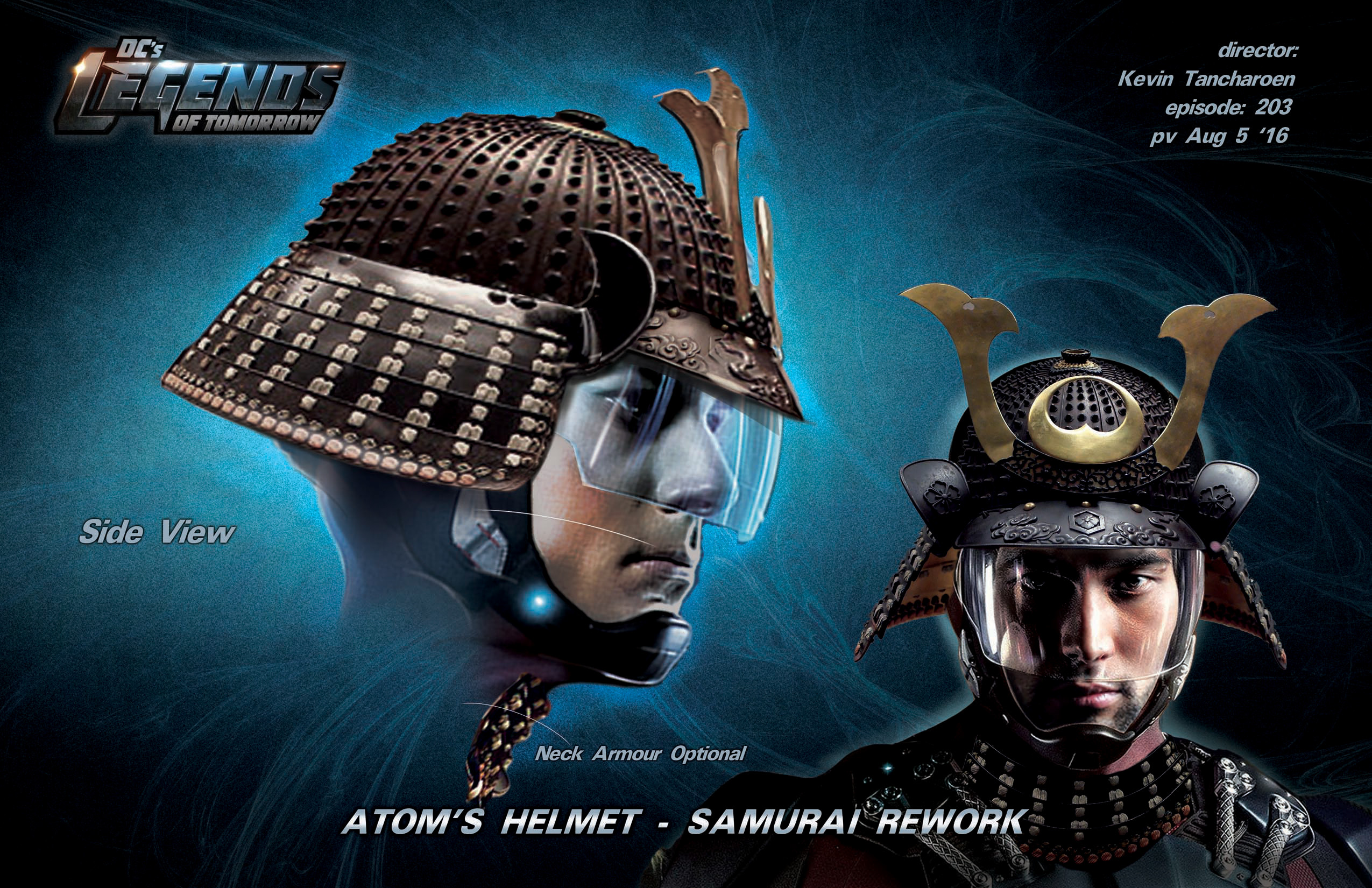 Samurai Helmet Design for Legends of DC Season 2