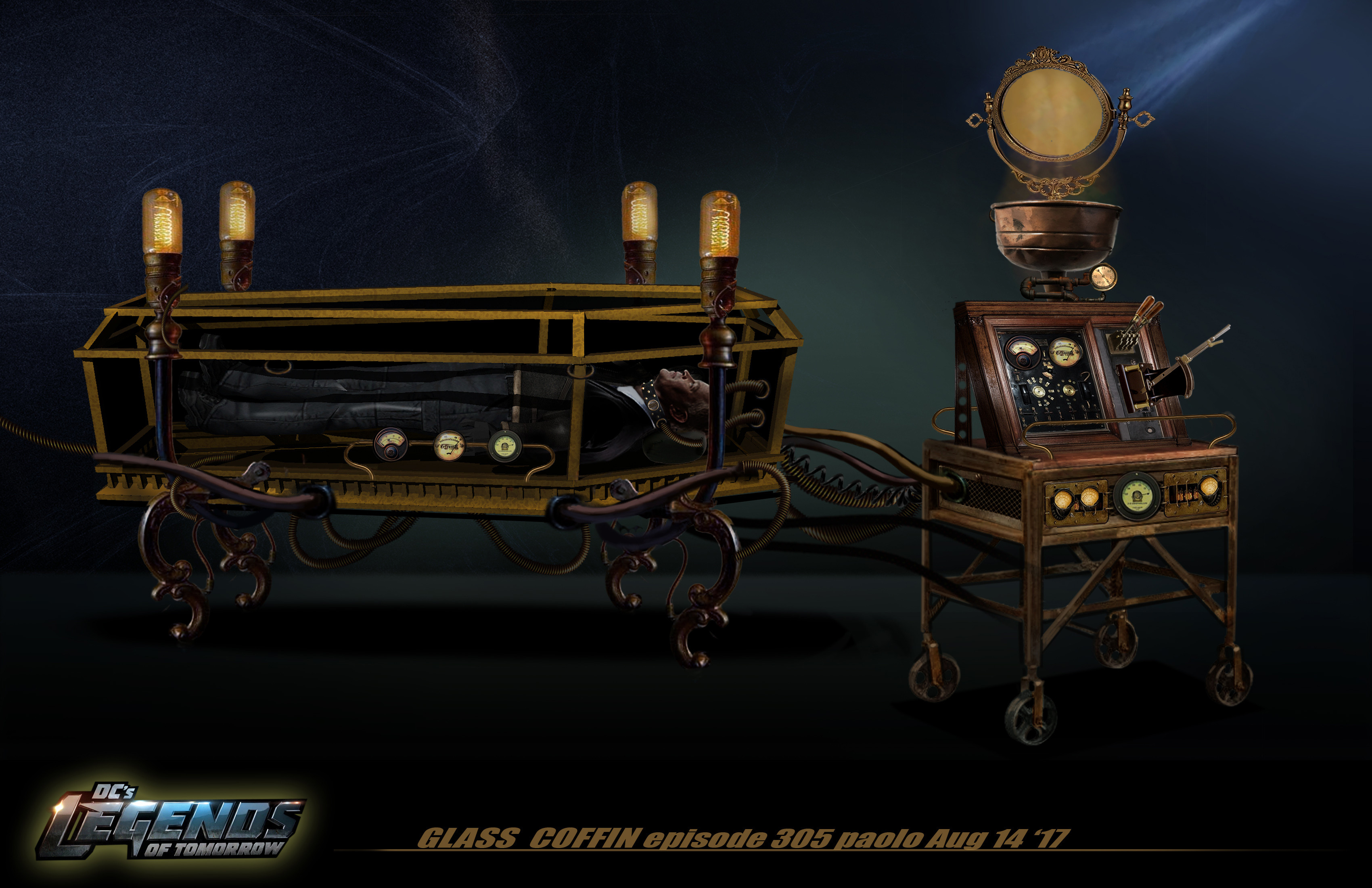 Steampunk Coffin Concept for Legends of DC Season 2