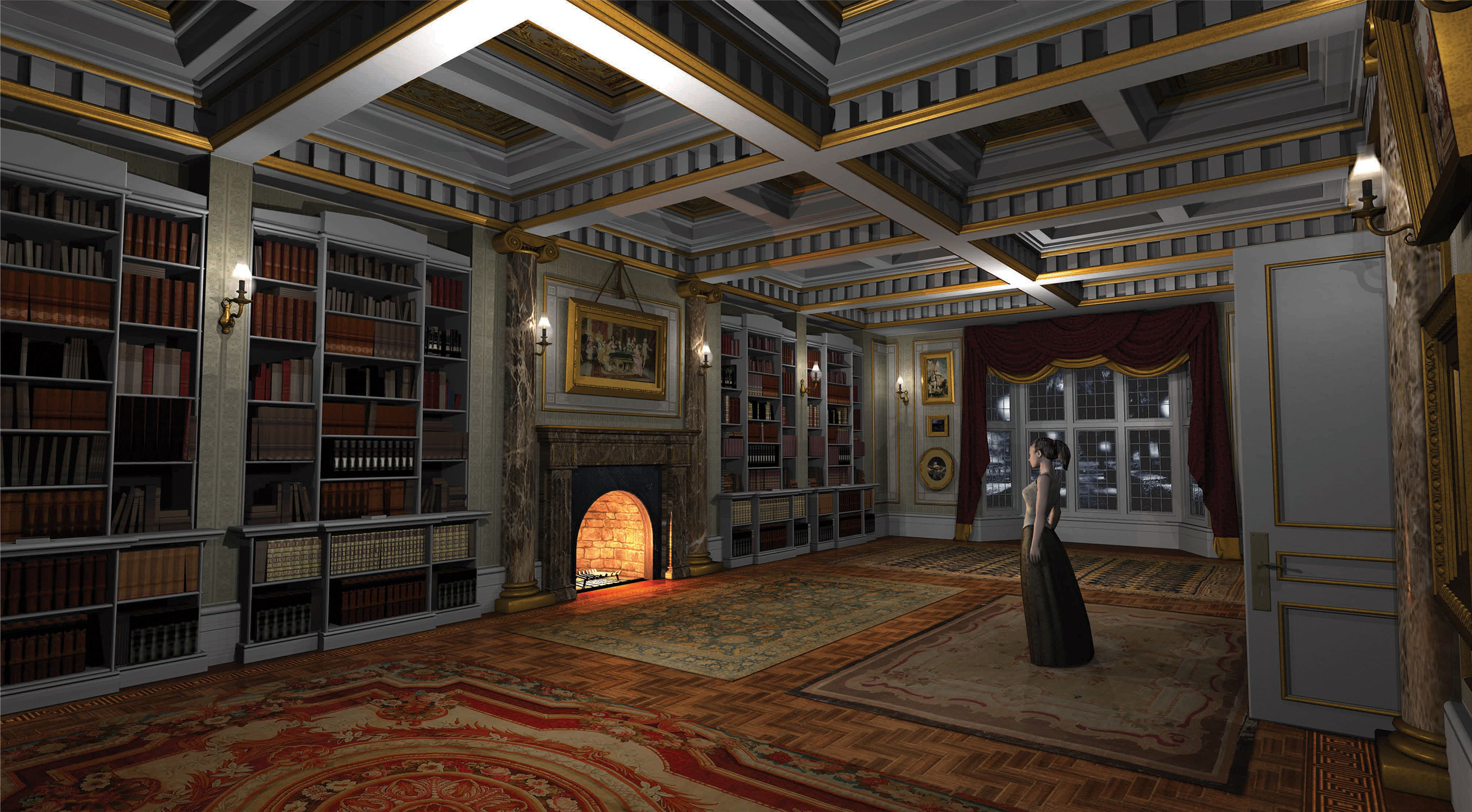 3D Victorian London Apartment Interior / Once Upon a Time Season 6