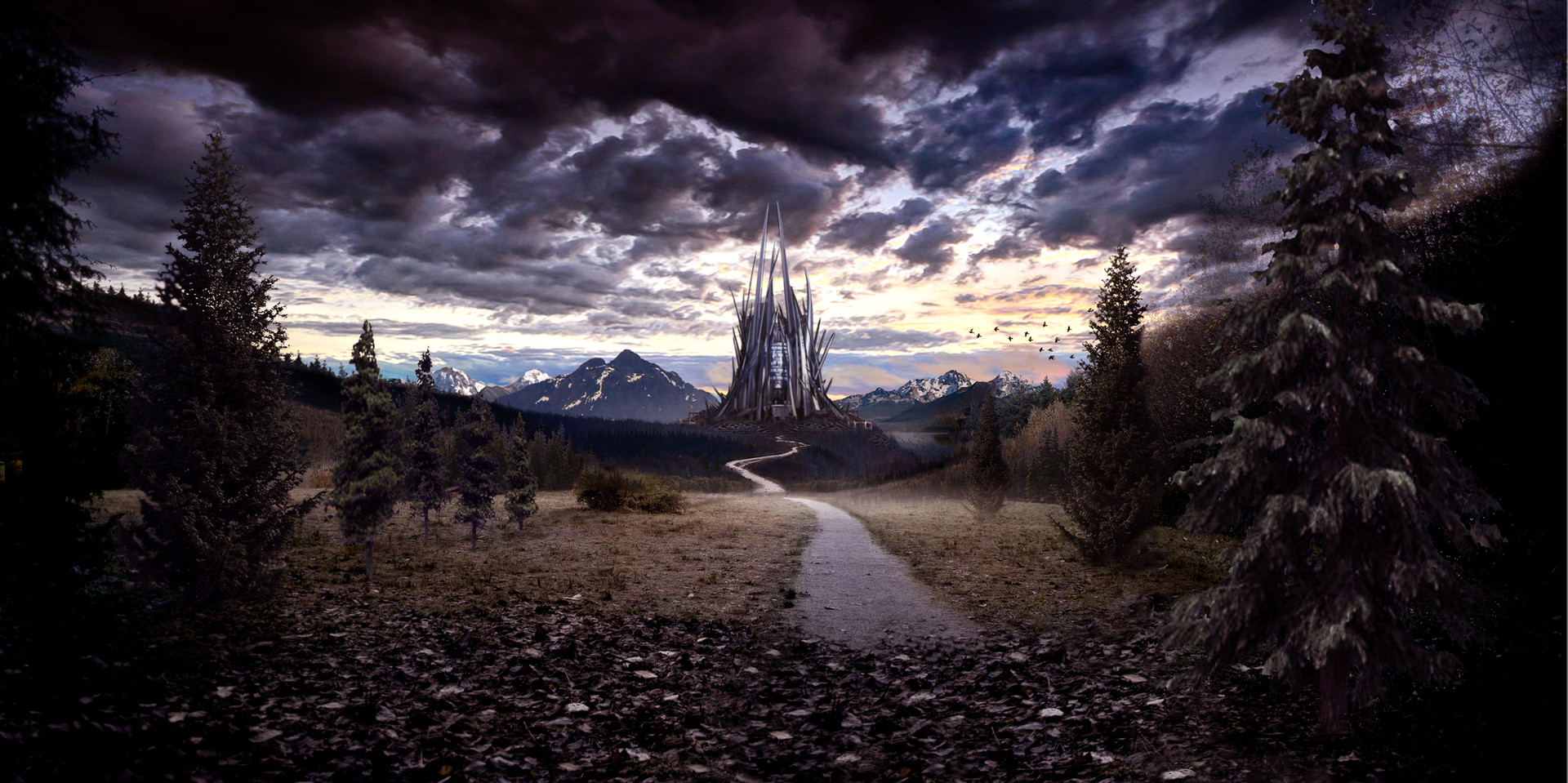 Evil Queen's Castle Matte Painting - Upon  a Time Season 5