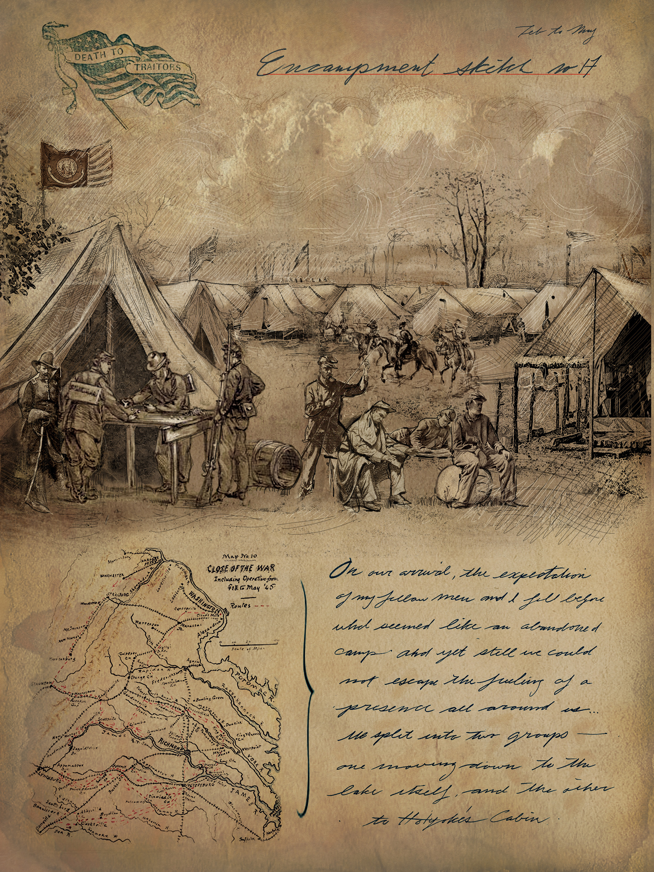Civil War Journal Page - Dead of Summer
