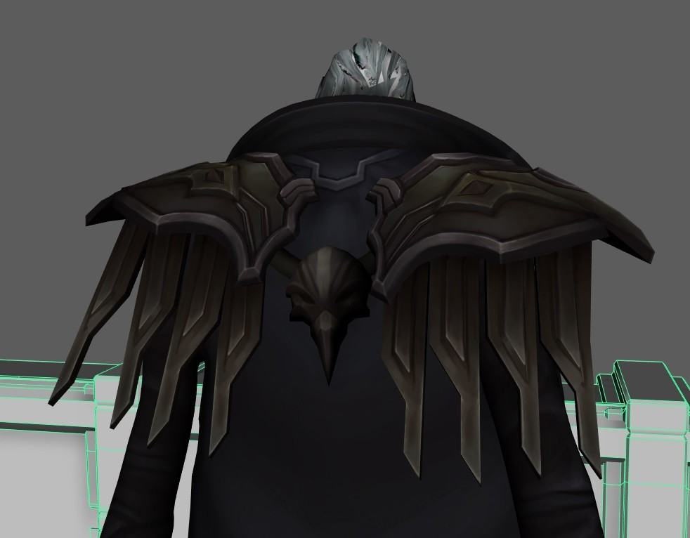 Here you can see how the head has hair cards with alpha, ( it looks like crap here but it's just the viewport ).