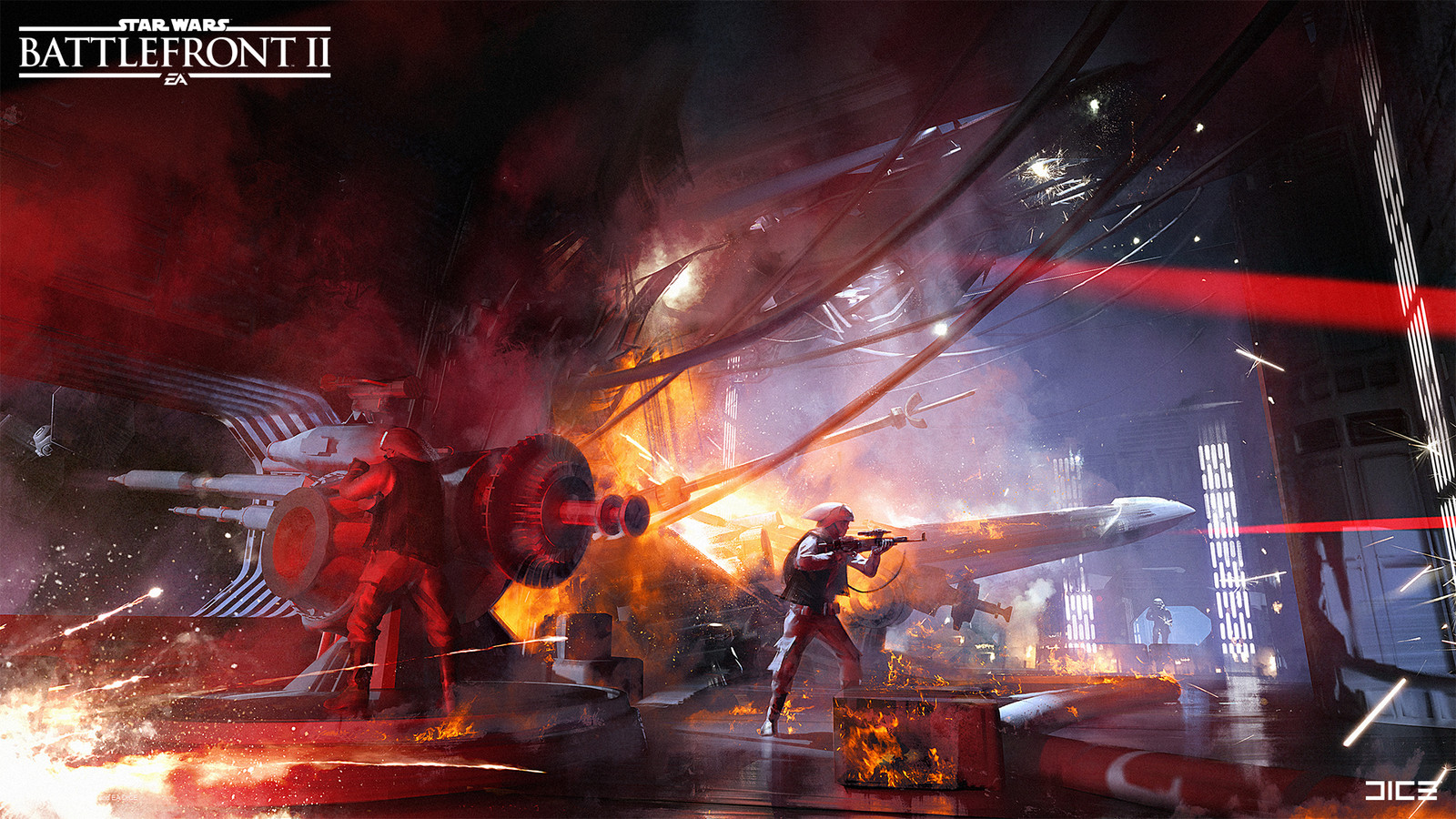 Some brave rebels have kamikazed into the Death star 2, hijacking the gunner stations.