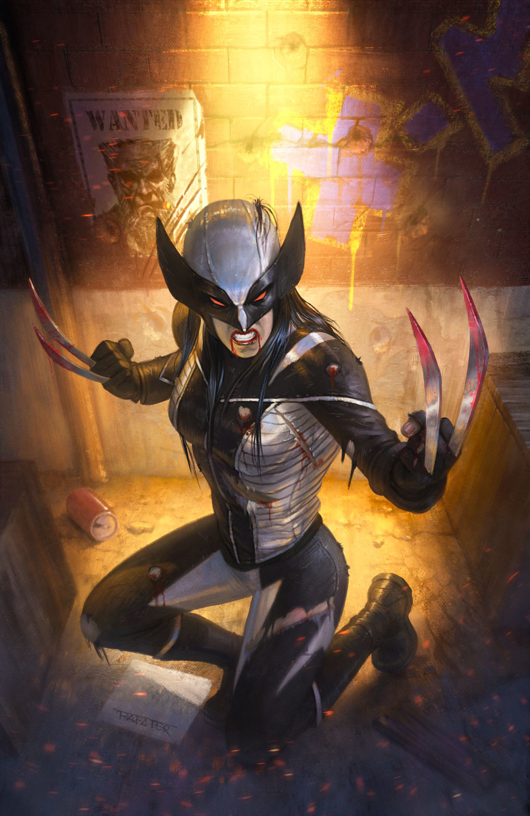 Rafael teruel marvel cover all new wolverine by rafater