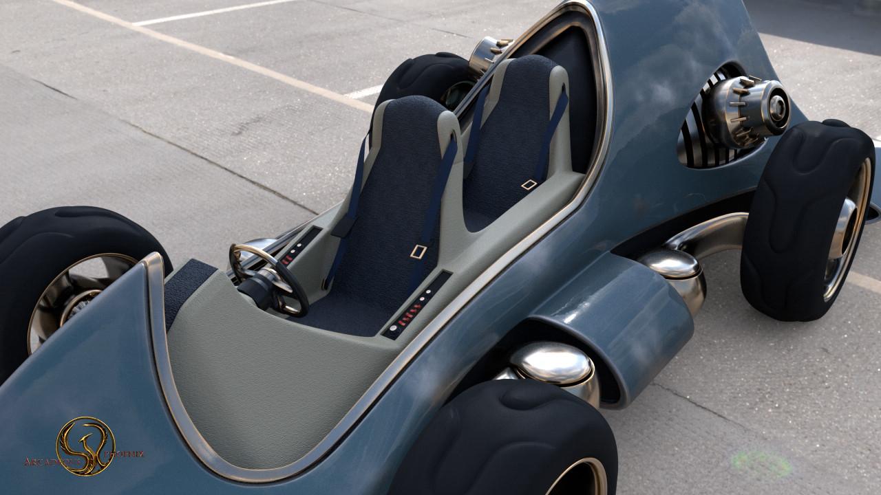 Arcadeous phoenix ap car case cockpit
