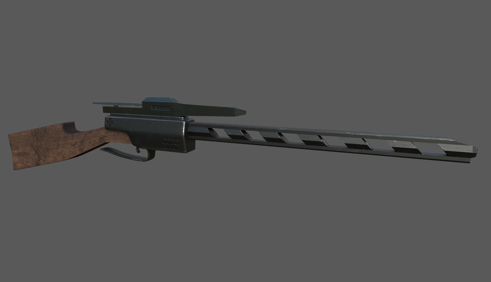 Projects >> Nick Edler - Futuristic Sniper Rifle