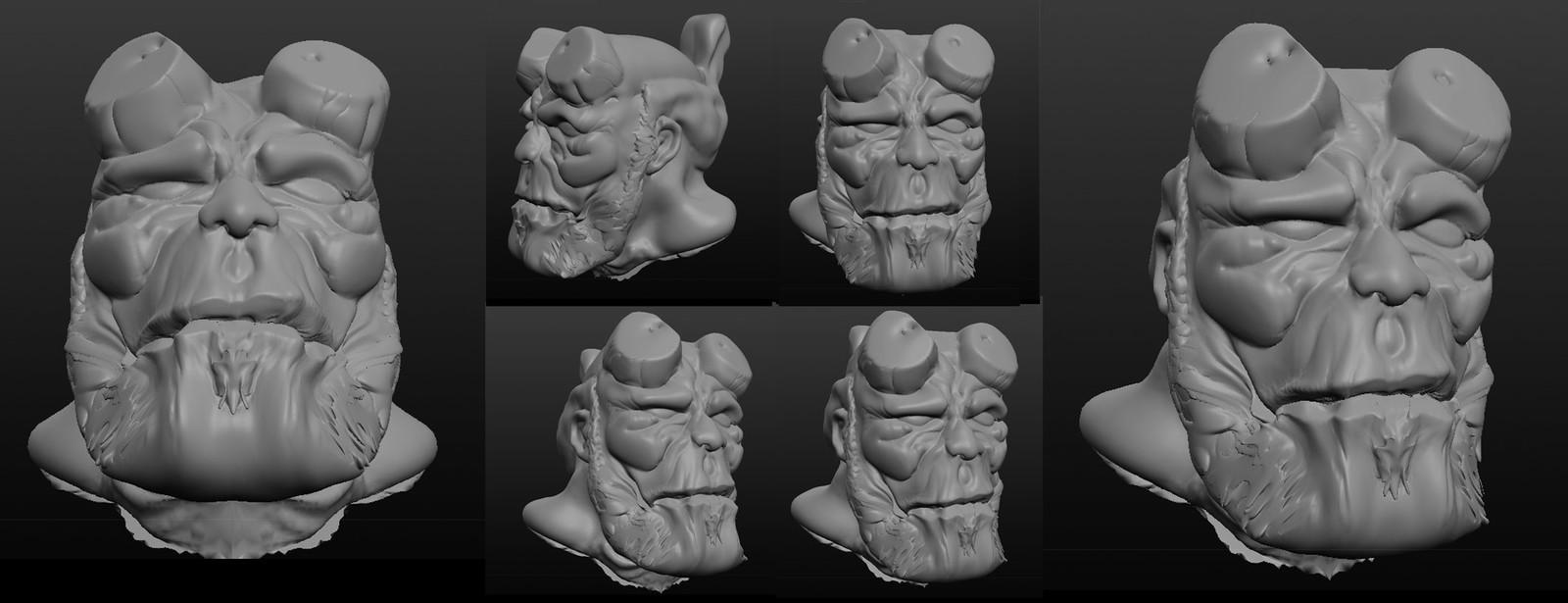 Screenshot views from Sculptris.