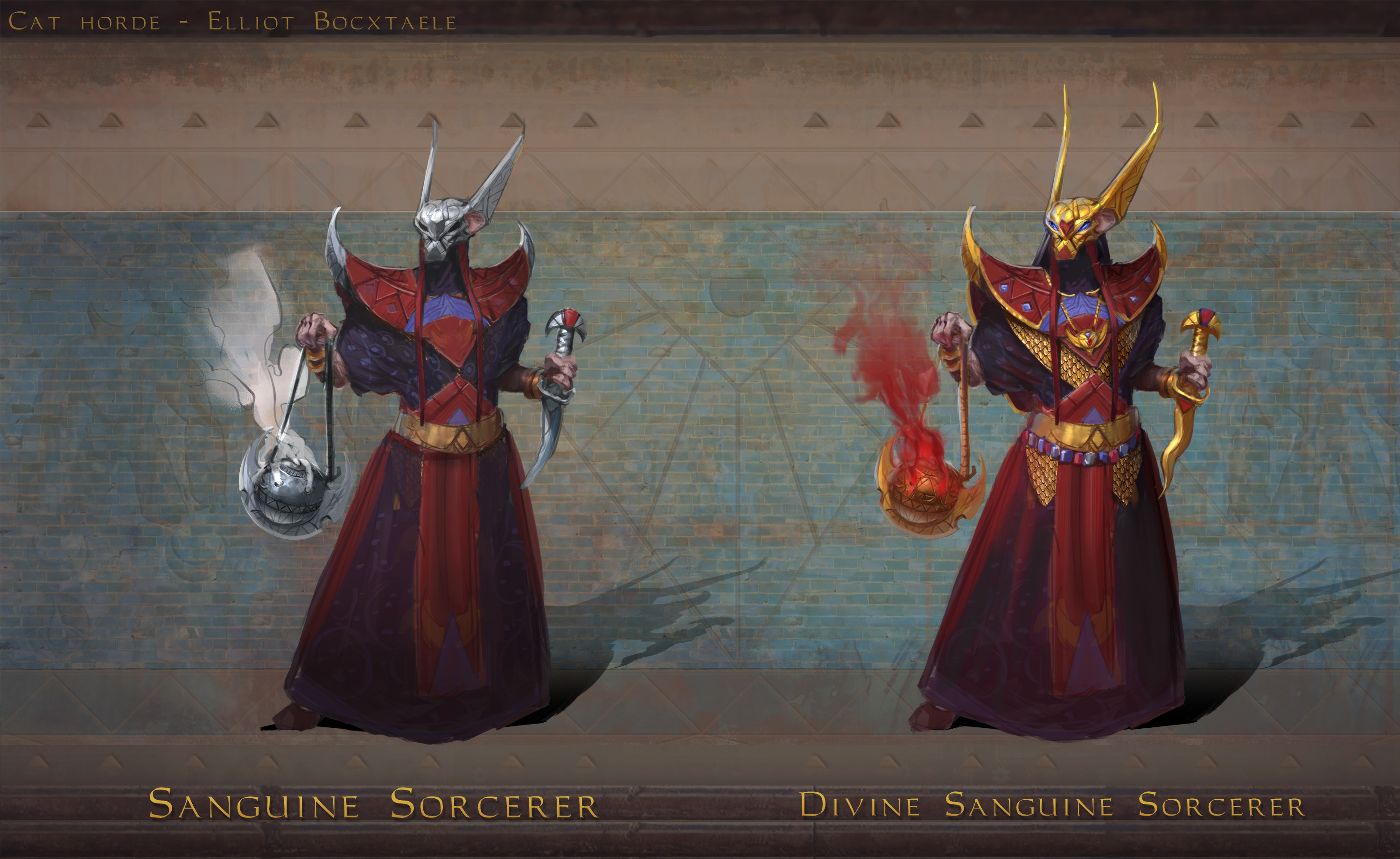 TIER 6 Sanguine sorcerer. They serve the cresent, the dark moon and ultimately themselves. Sanguine sorcerers are incredibly powerful magicians, conjurers and alchemists, known for their twisted and grotesque blood rituals. Their obscure cult is ...