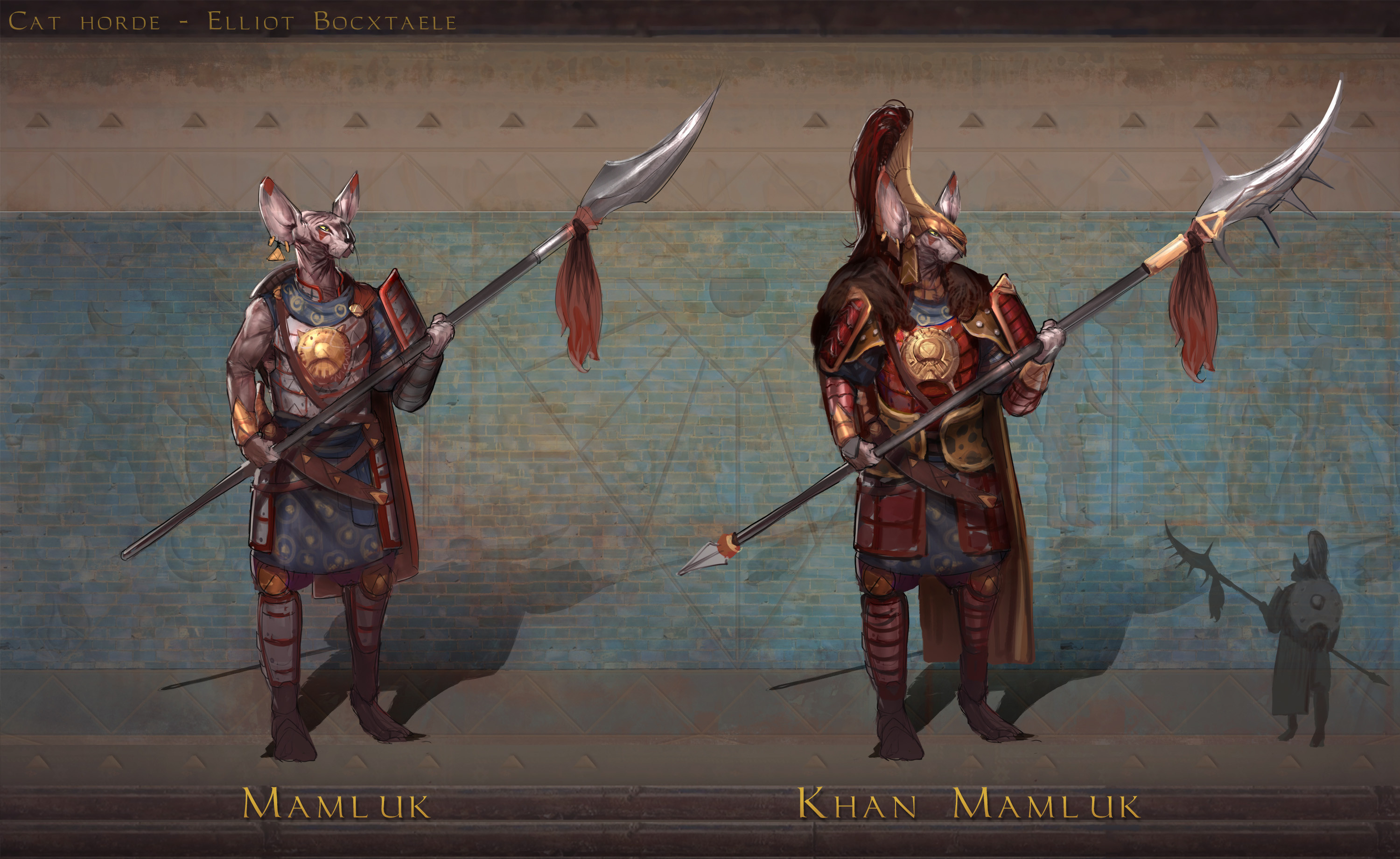 """TIER 4 Mamluk. As opposed to other civilizations, slaves could be highly respected among the Horde's society, which is definelty the case for the elite Mamluk class. Often used as royal guards because of a adherent loyalty to their warrior """"brothers""""..."""