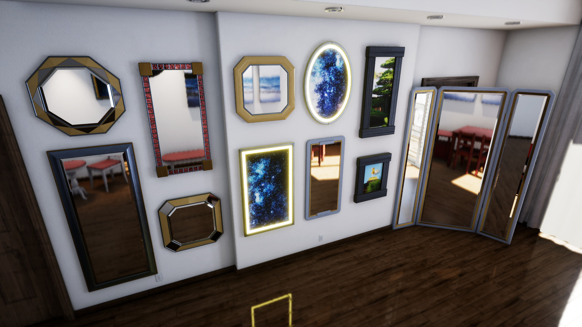 A couple shots of the objects in Unreal.