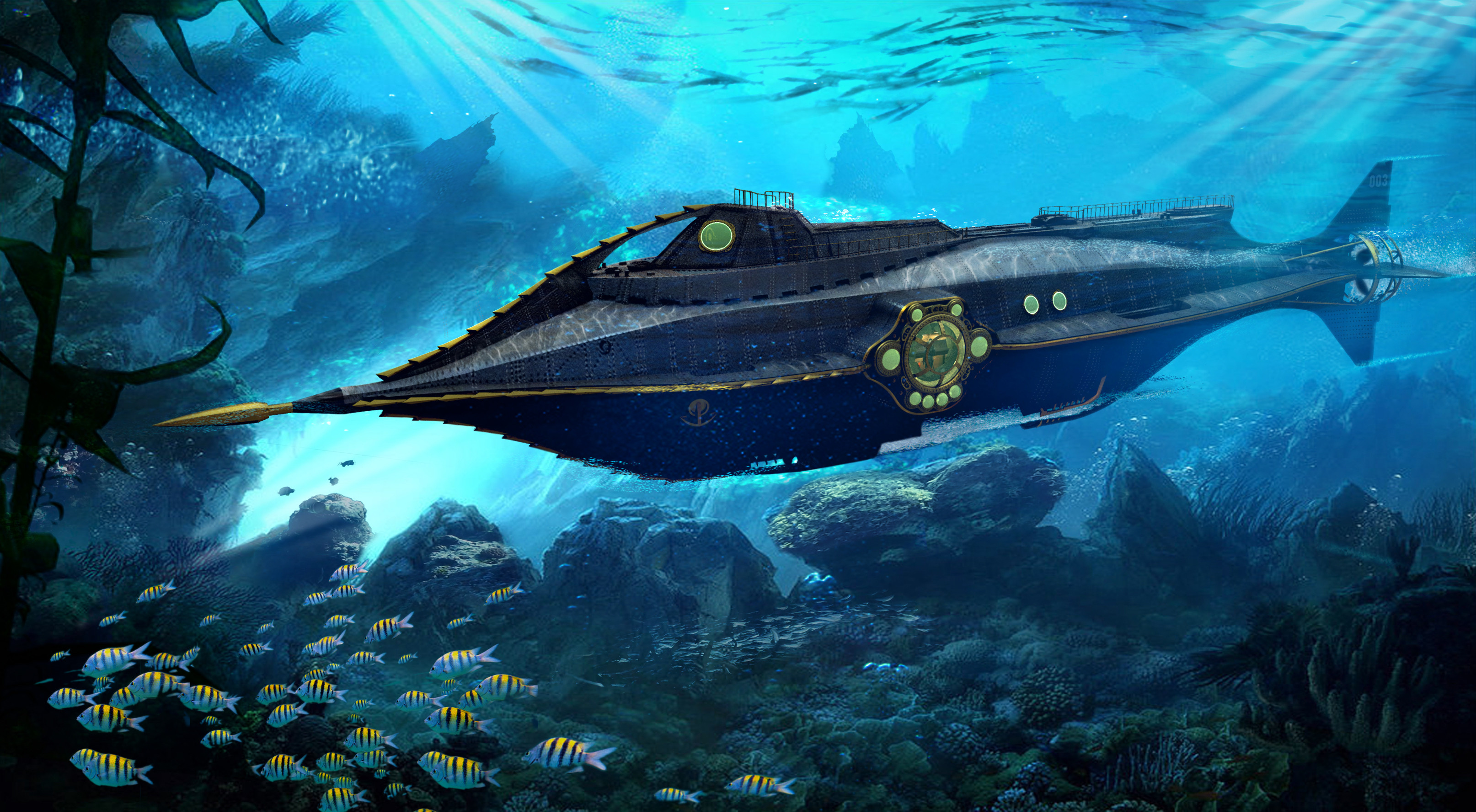2D / 3D Nautilus Submarine Concept for ABC's Once Upon a Time Season 7