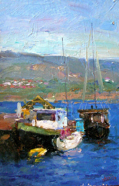 Boats oilsketch