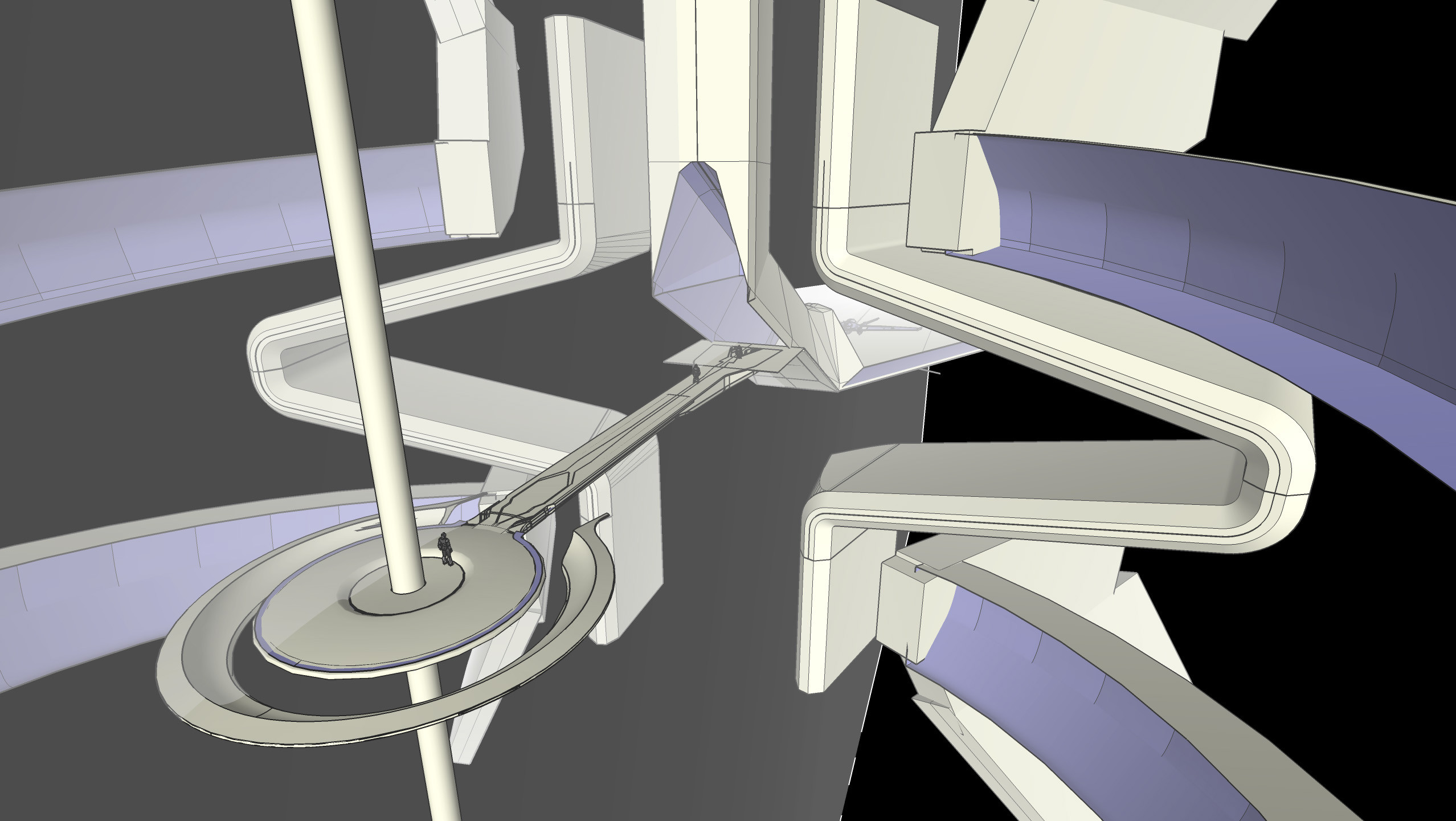 Underlay image of Darren Gilford's Sketchup model.