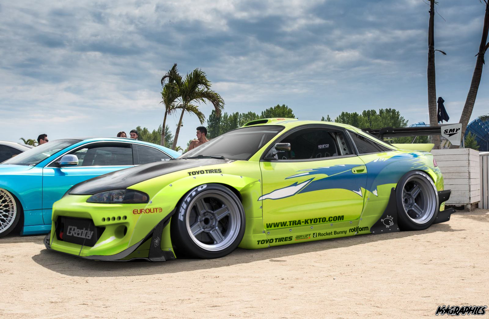artstation - fast and furious mitsubishi eclipse rocket bunny