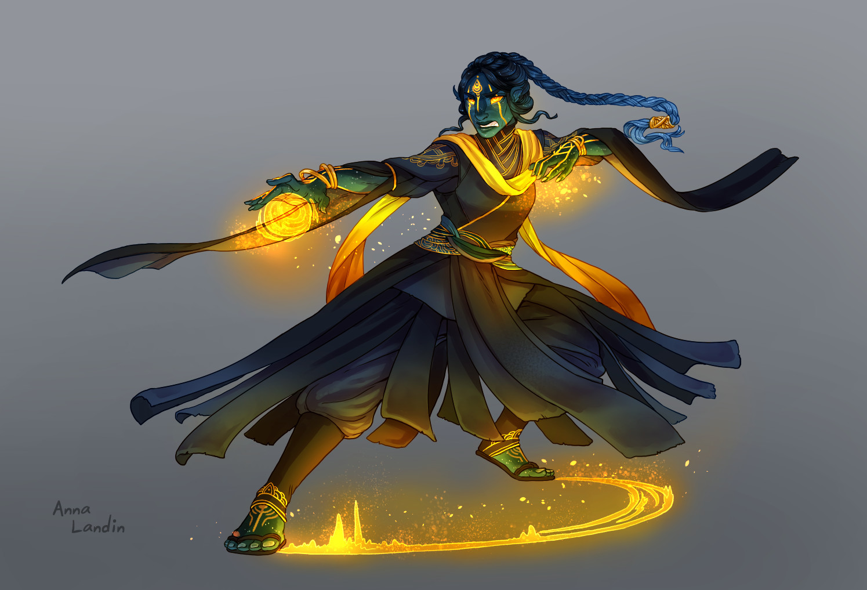 Radiant Sun Bolt battle pose