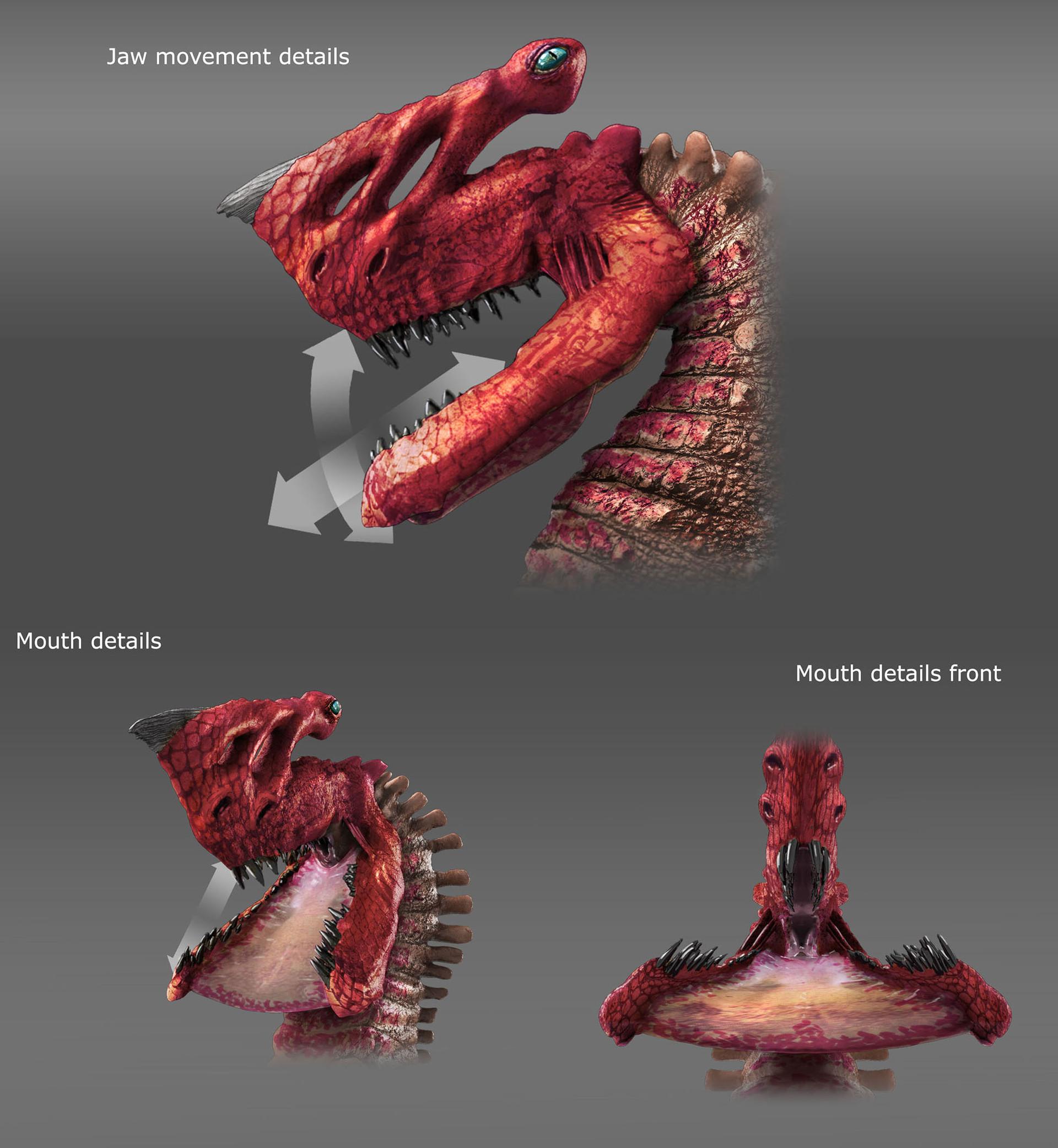 Grimm Odds - Gore-Head Gator - Jaw Details