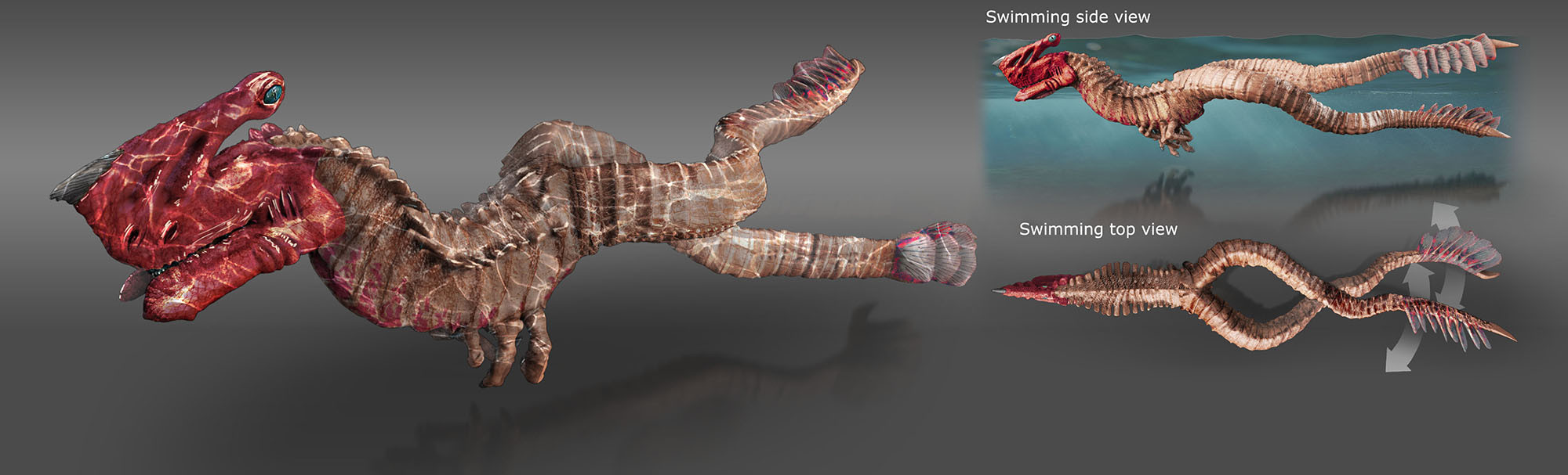 Grimm Odds - Gore-Head Gator - Swimming Pose