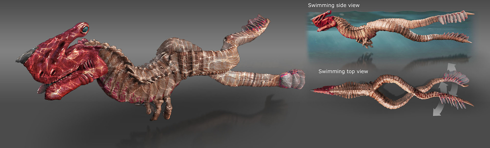 Grimm Odds - Gore-Head Gator - Swimming Pose
