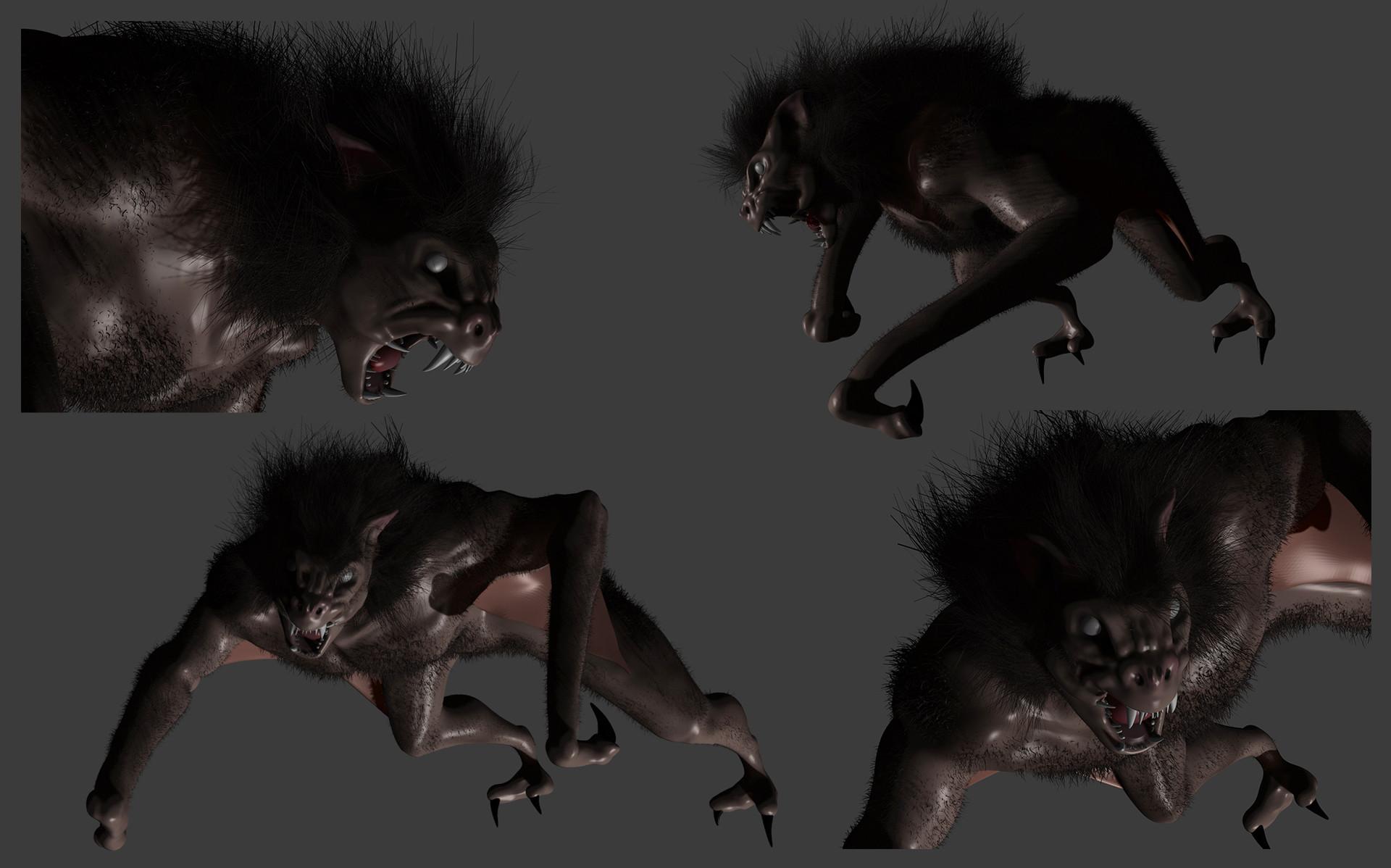 Martin jario giant bat zbrush renders martinjario 2