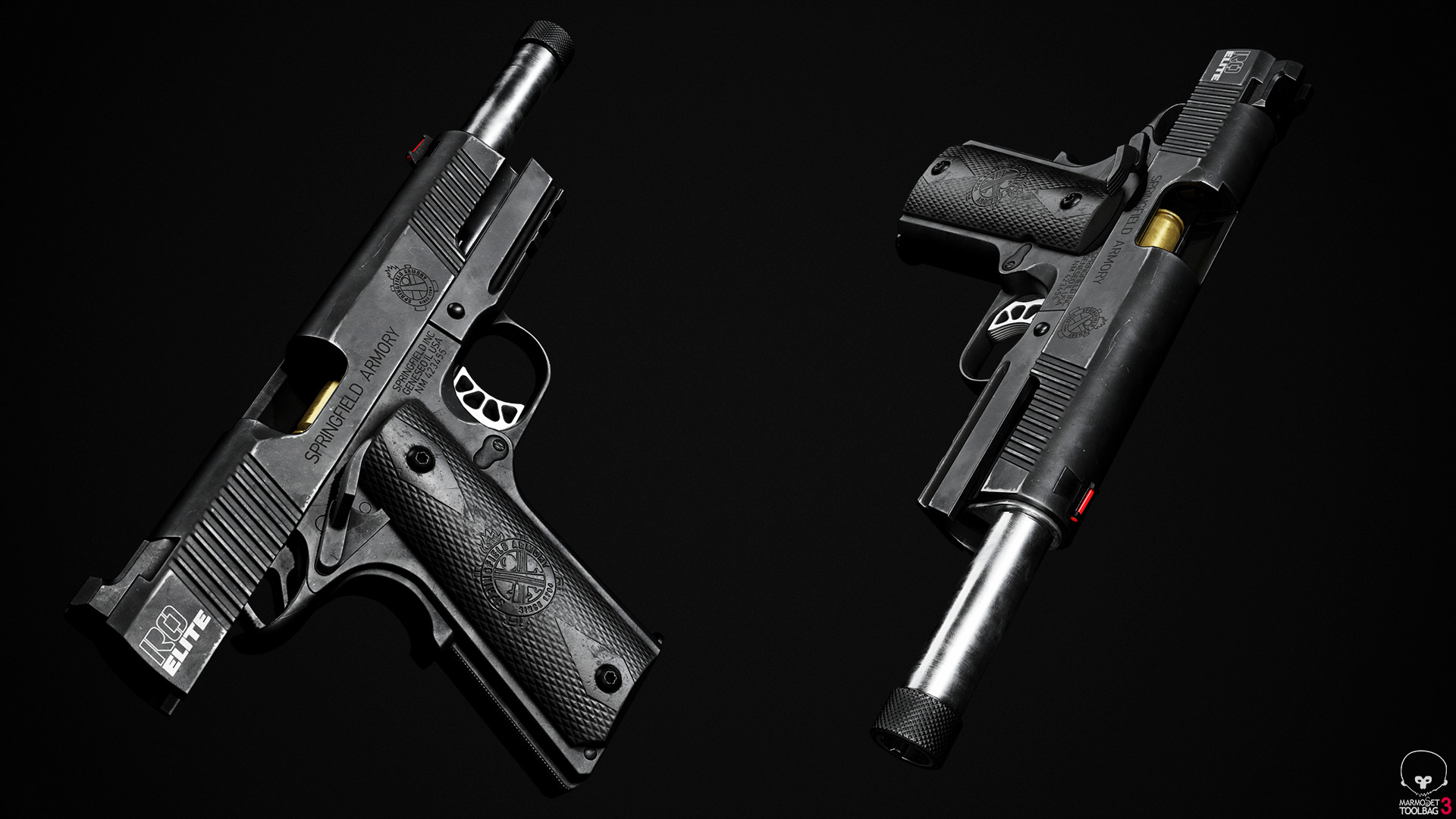 ArtStation - Springfield 1911 Range Officer Elite Operator ...