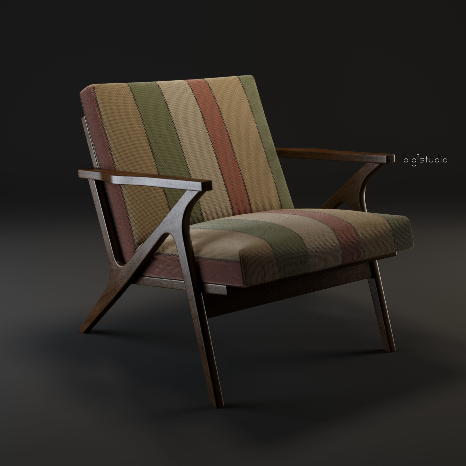 Cavett Wood Frame Chair