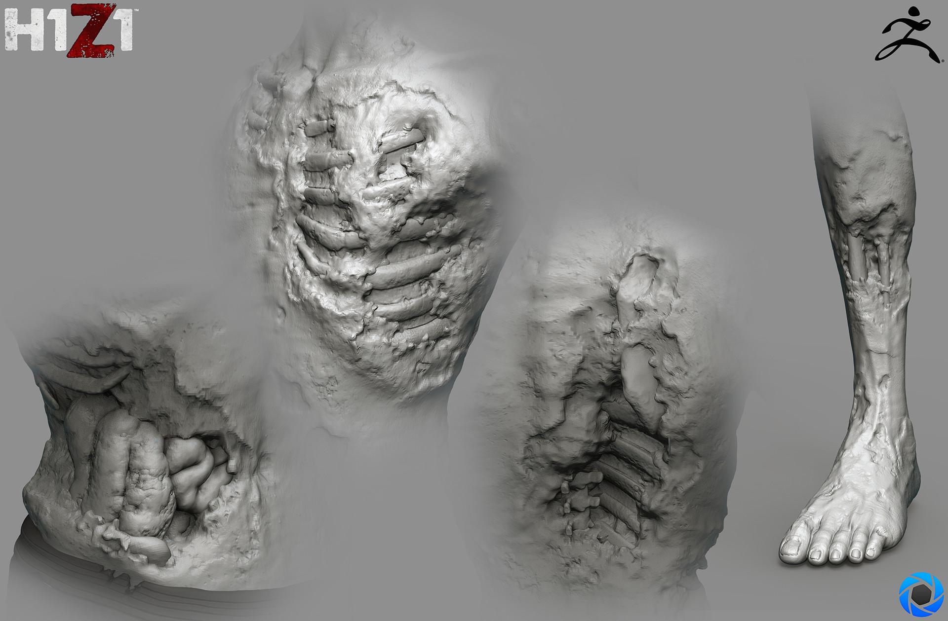 Satoshi arakawa zombie male body sculpt 2
