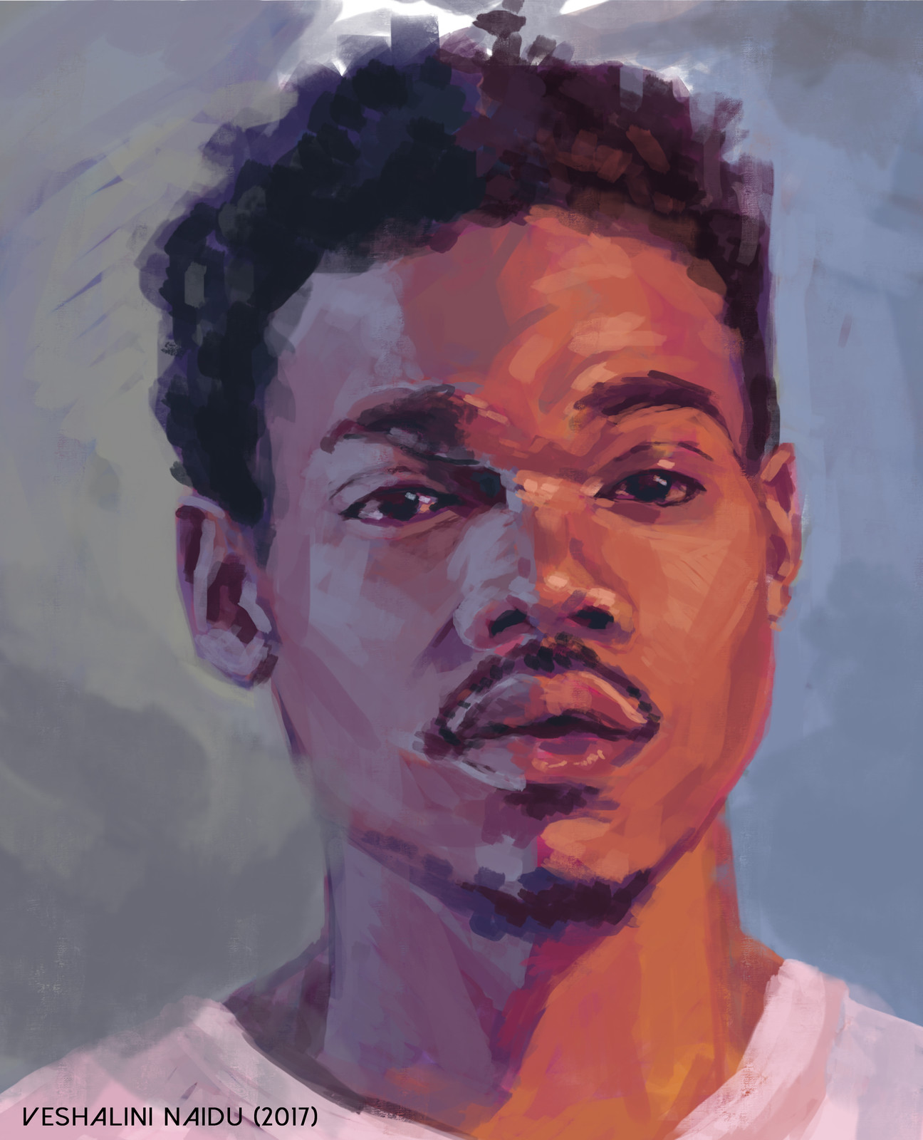 Digital Painting Portrait Practise: Chance the Rapper