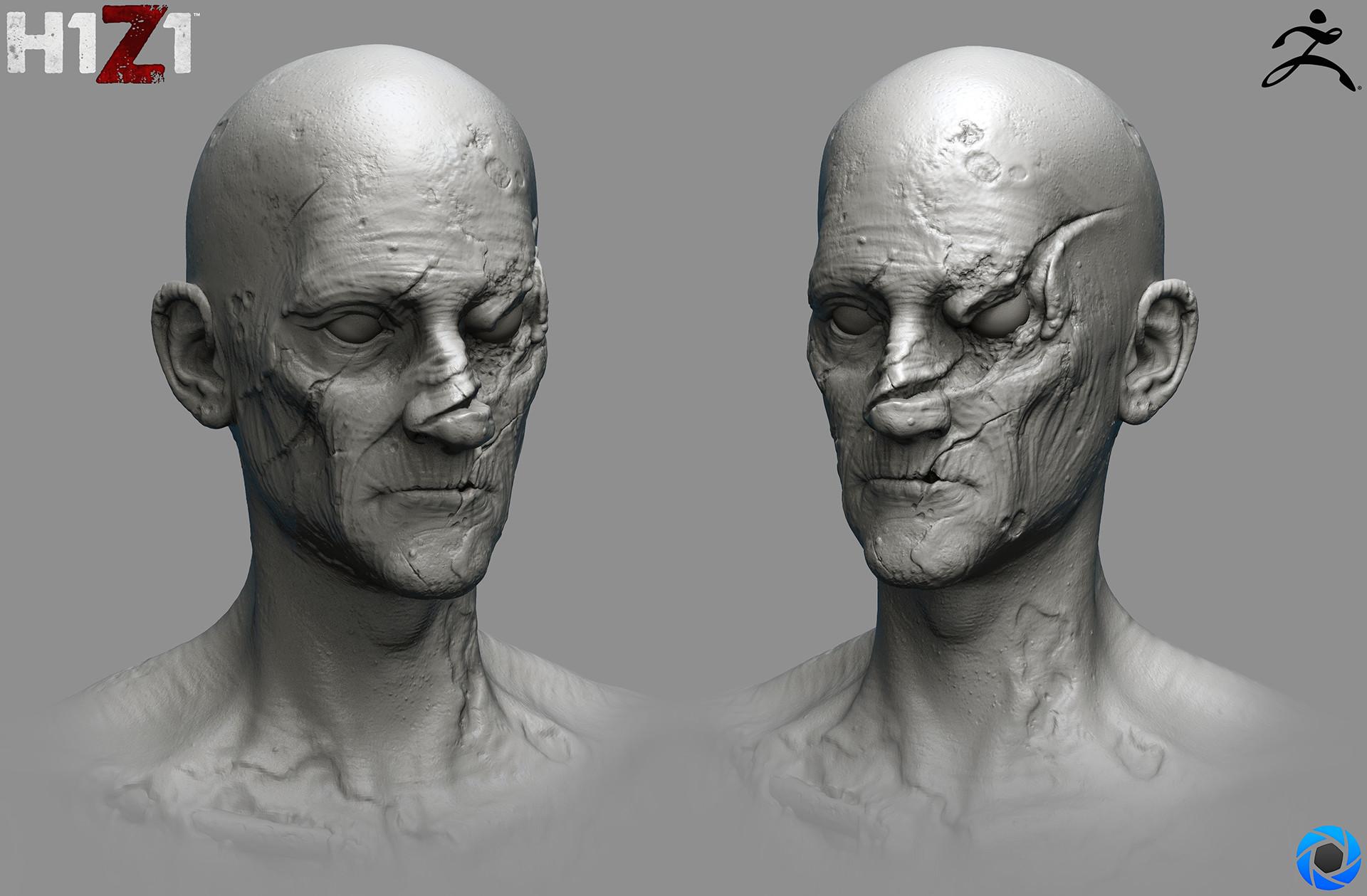 Satoshi arakawa zombie male hex 02 sculpt