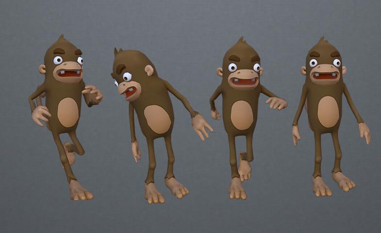 ArtStation - Cartoon Monkeys, Alfonso Montón