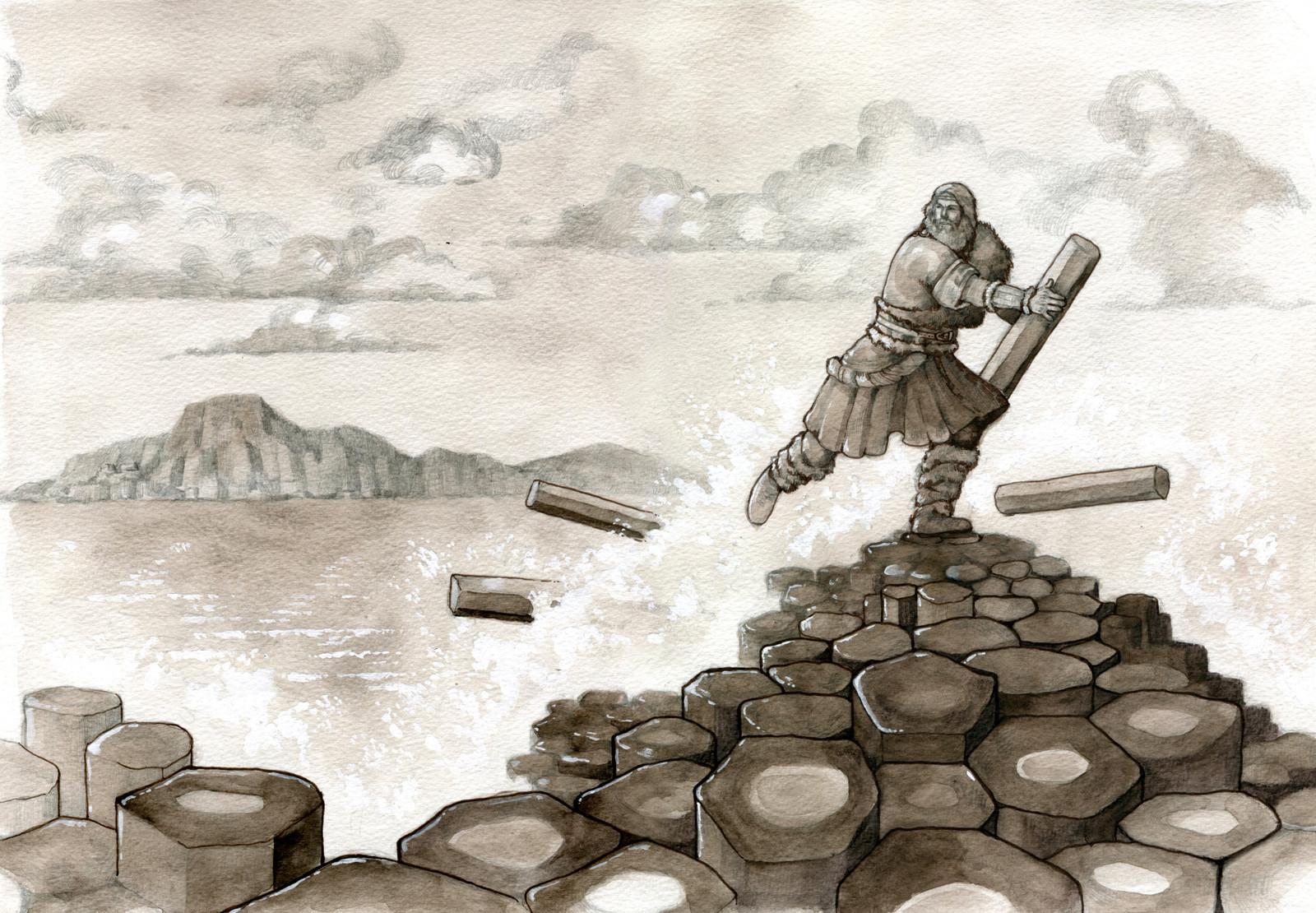 Last scene: Benanndonner destroys the causeway