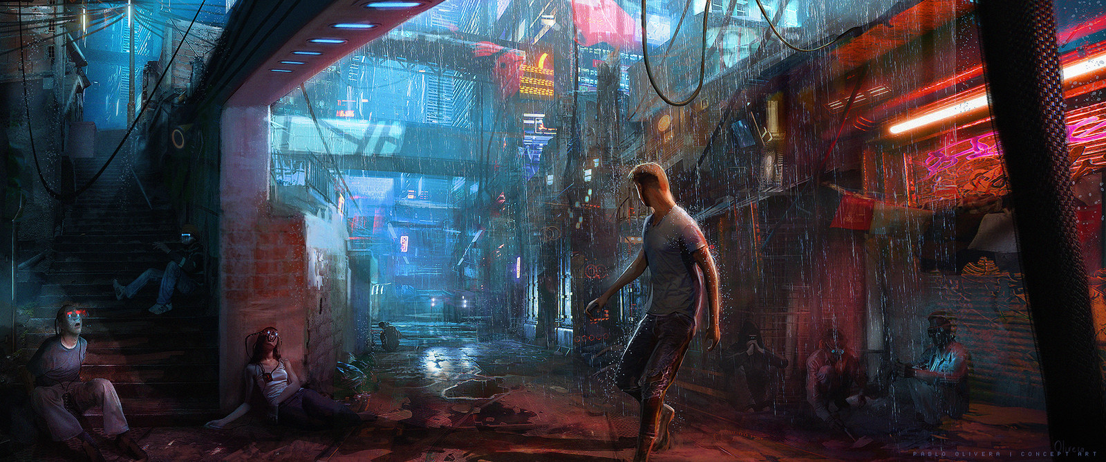 UNCANNY VALLEY - Key Art Illustration