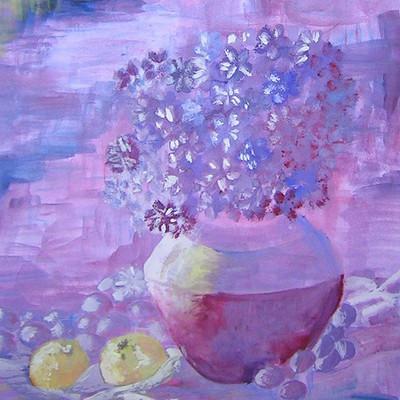 Patrycja przelucka kwiaty purpura impresja