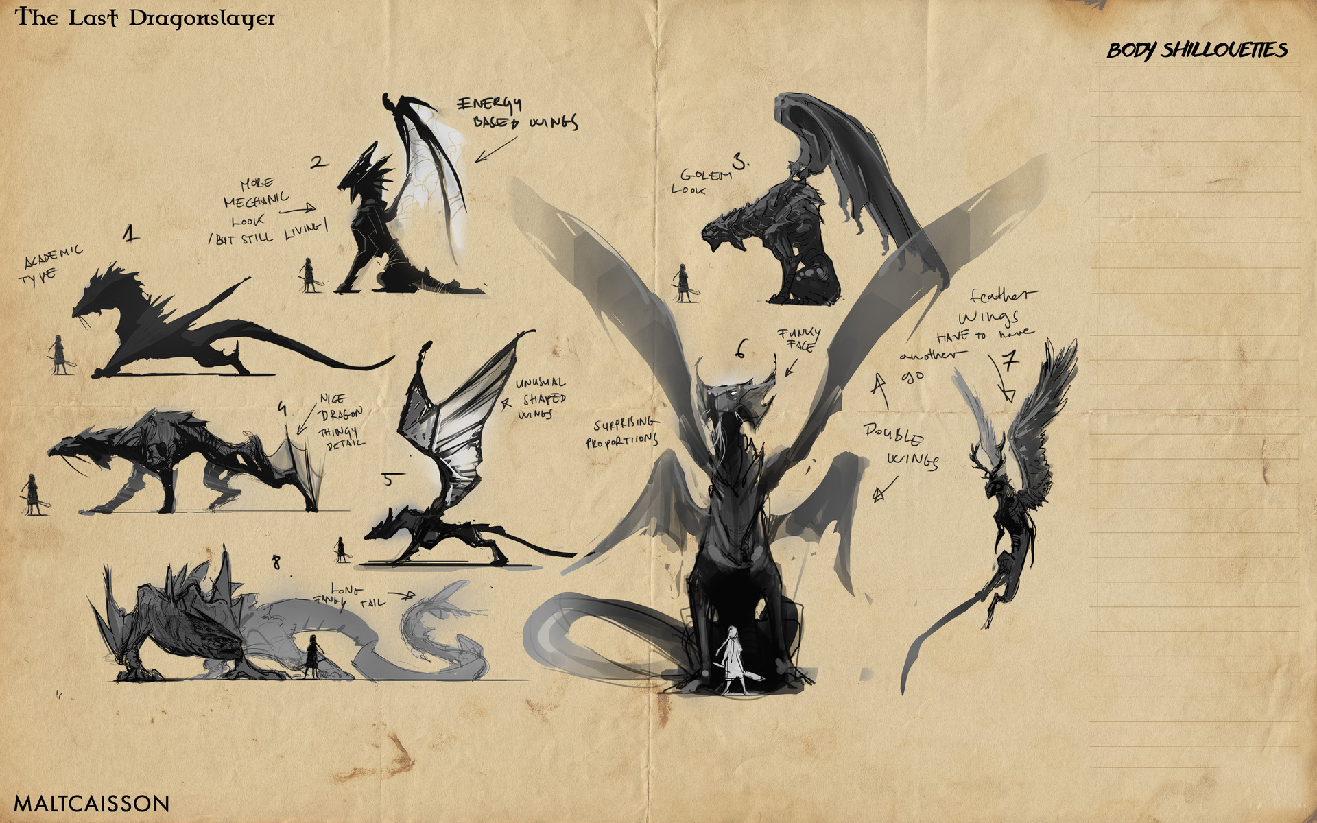 Nothof Ferenc Portfolio - Dragon design for Tv show: The