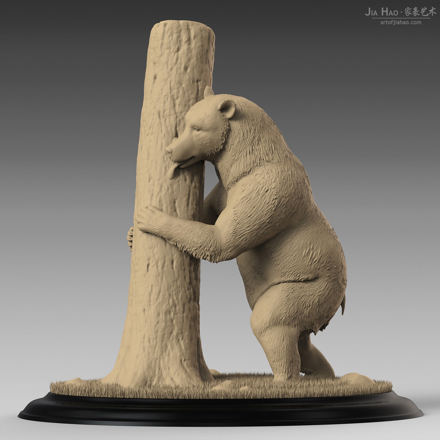 Jia hao brownbear digitalsculpturea 01