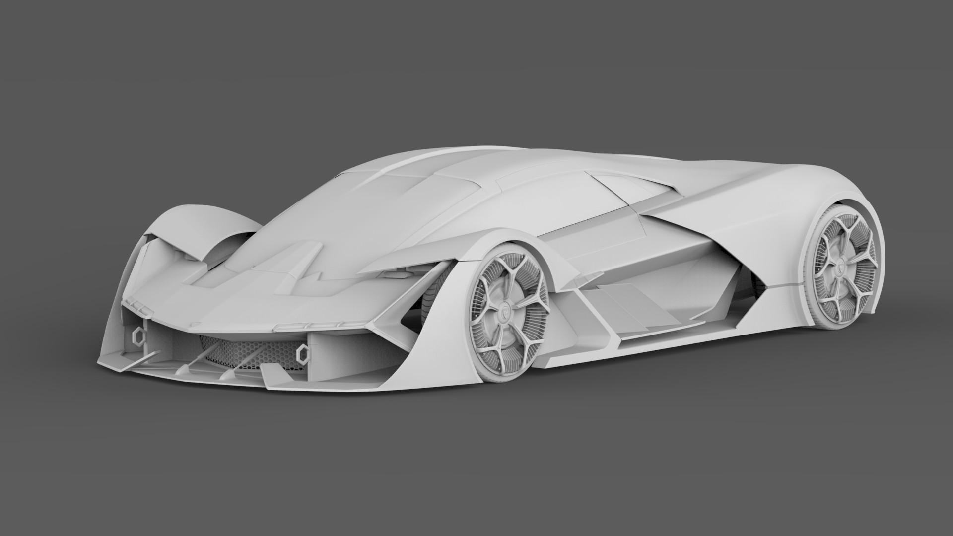 Artstation Lamborghini Terzo Millennio Returns Naman Deep