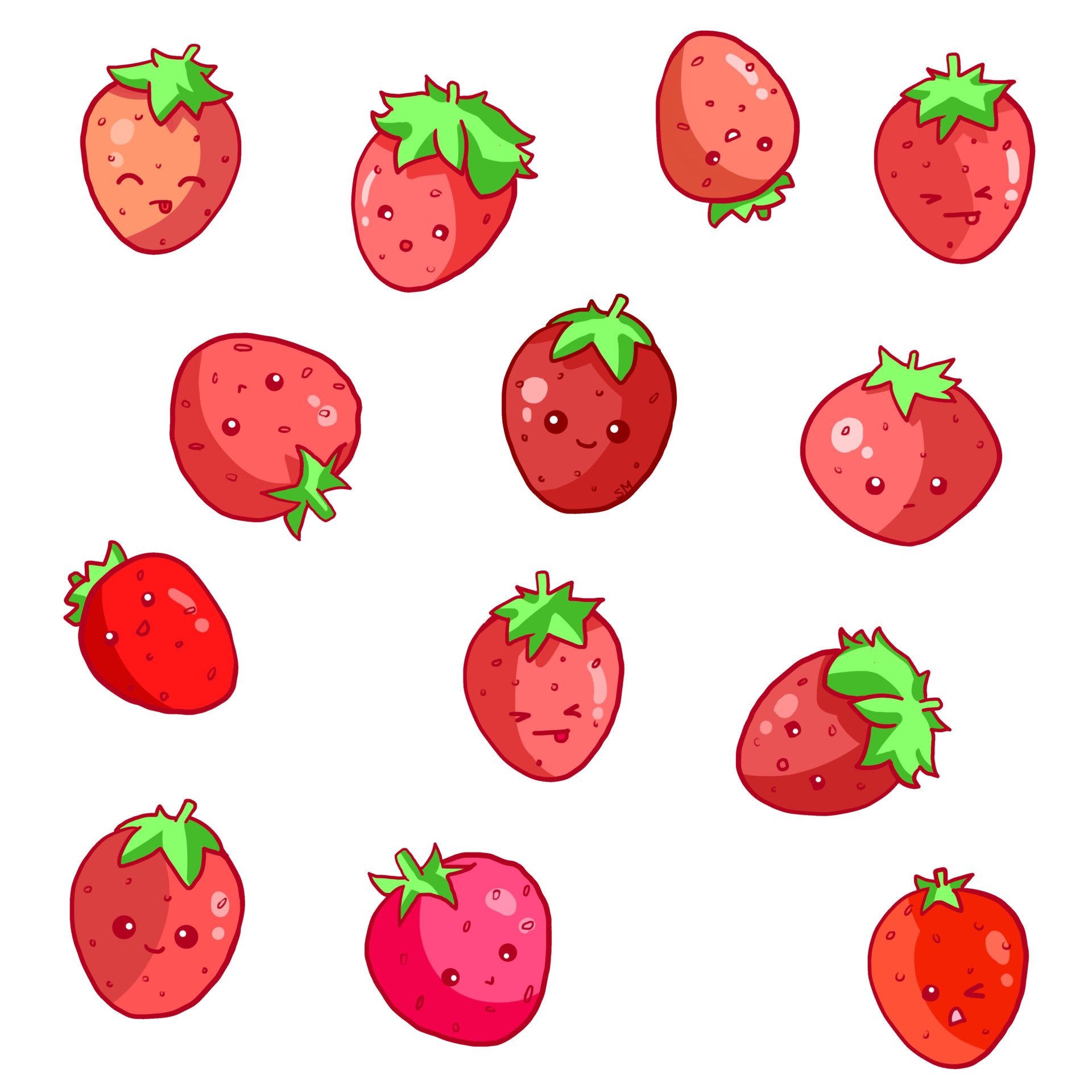 Shellz art pattern strawberry