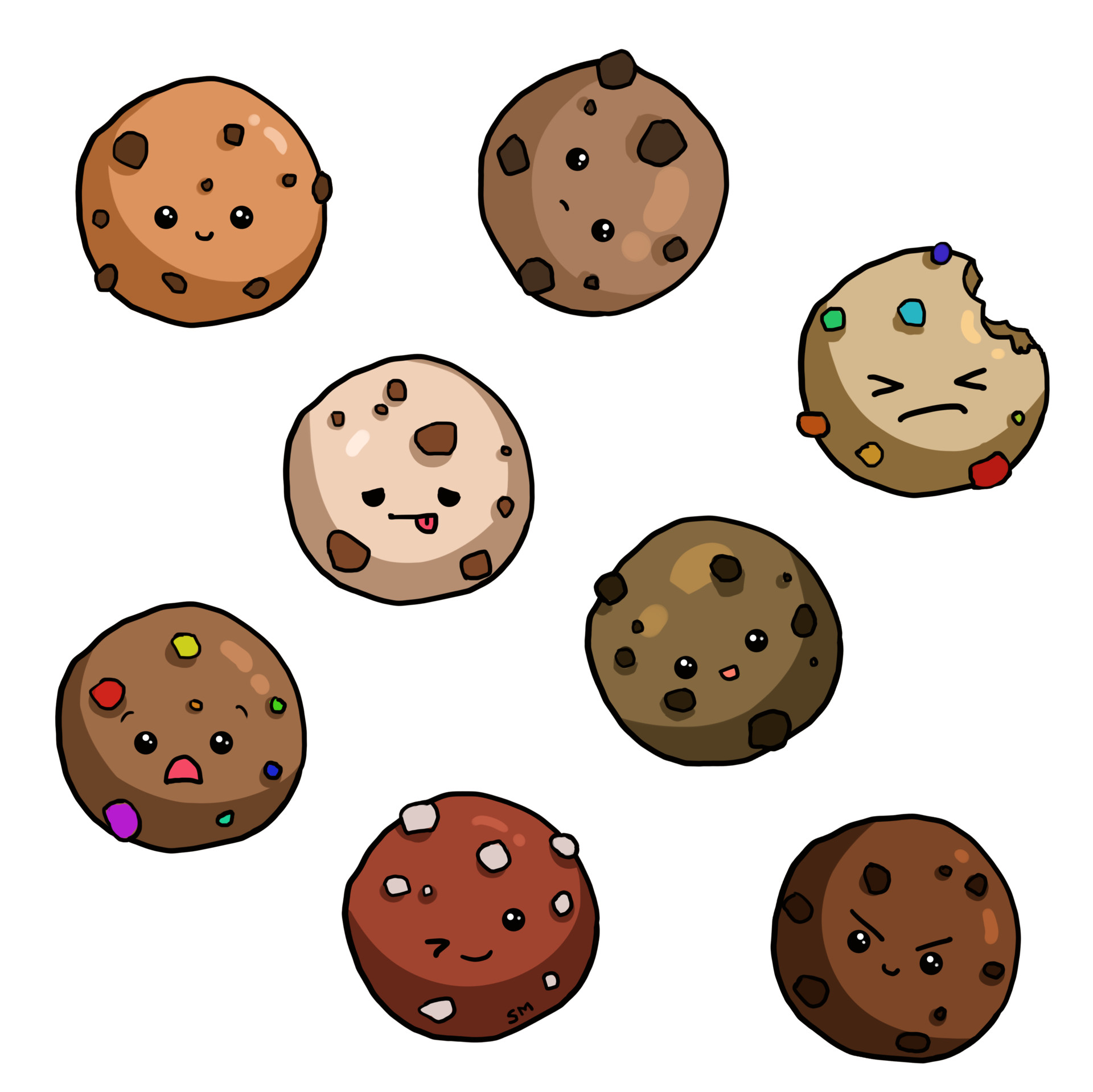Shellz art pattern cookie
