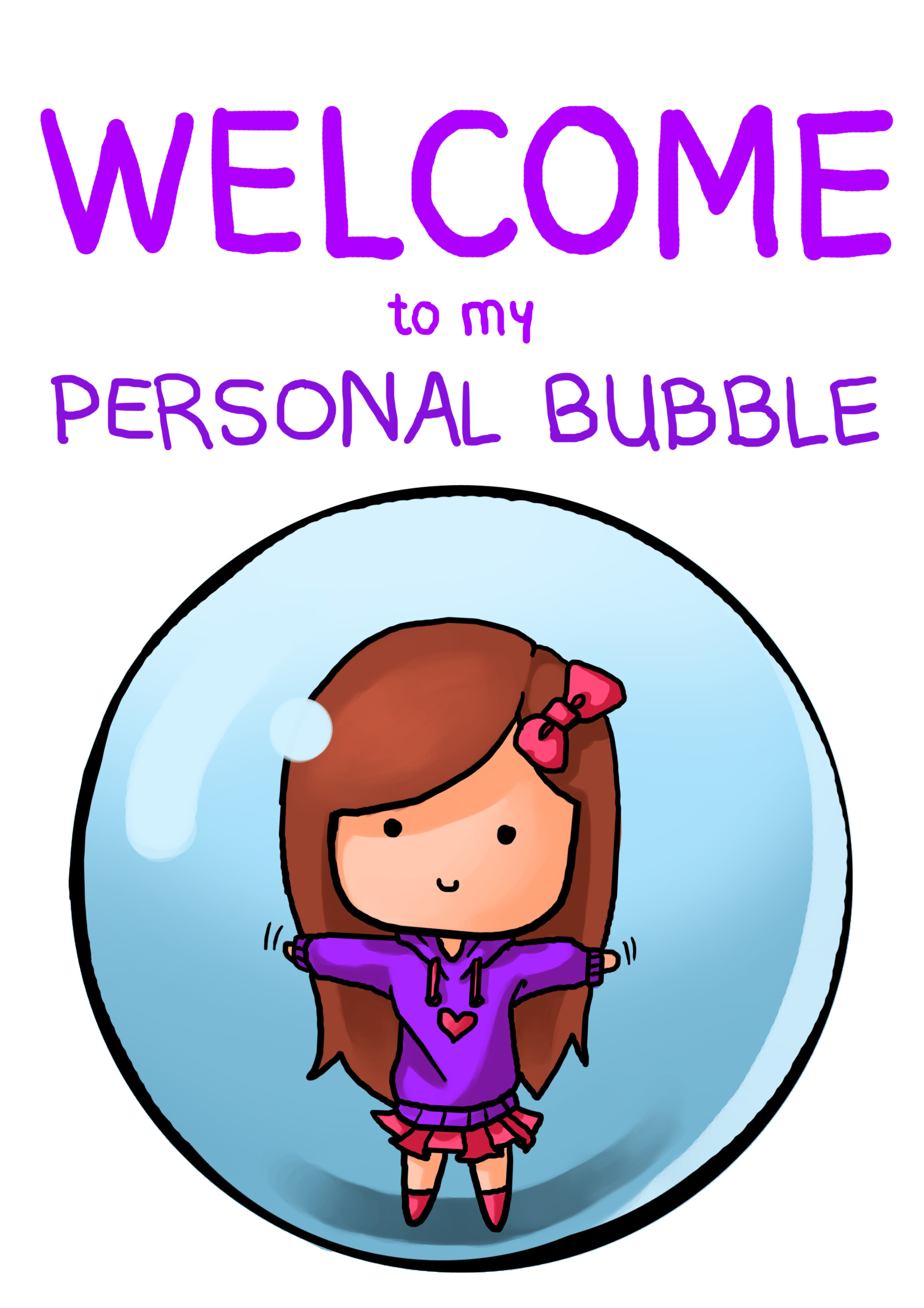 Shellz art personal bubble girl