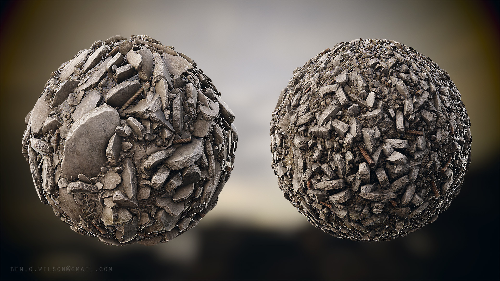 Ben wilson rubble 01 sphere renders a